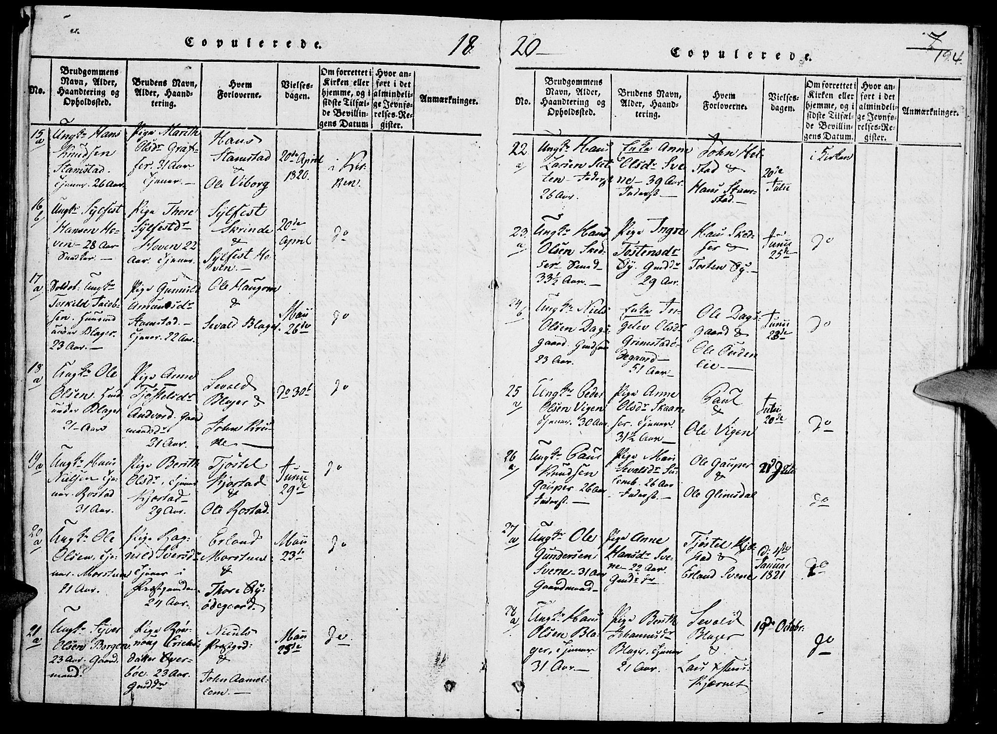 SAH, Lom prestekontor, K/L0004: Ministerialbok nr. 4, 1815-1825, s. 194
