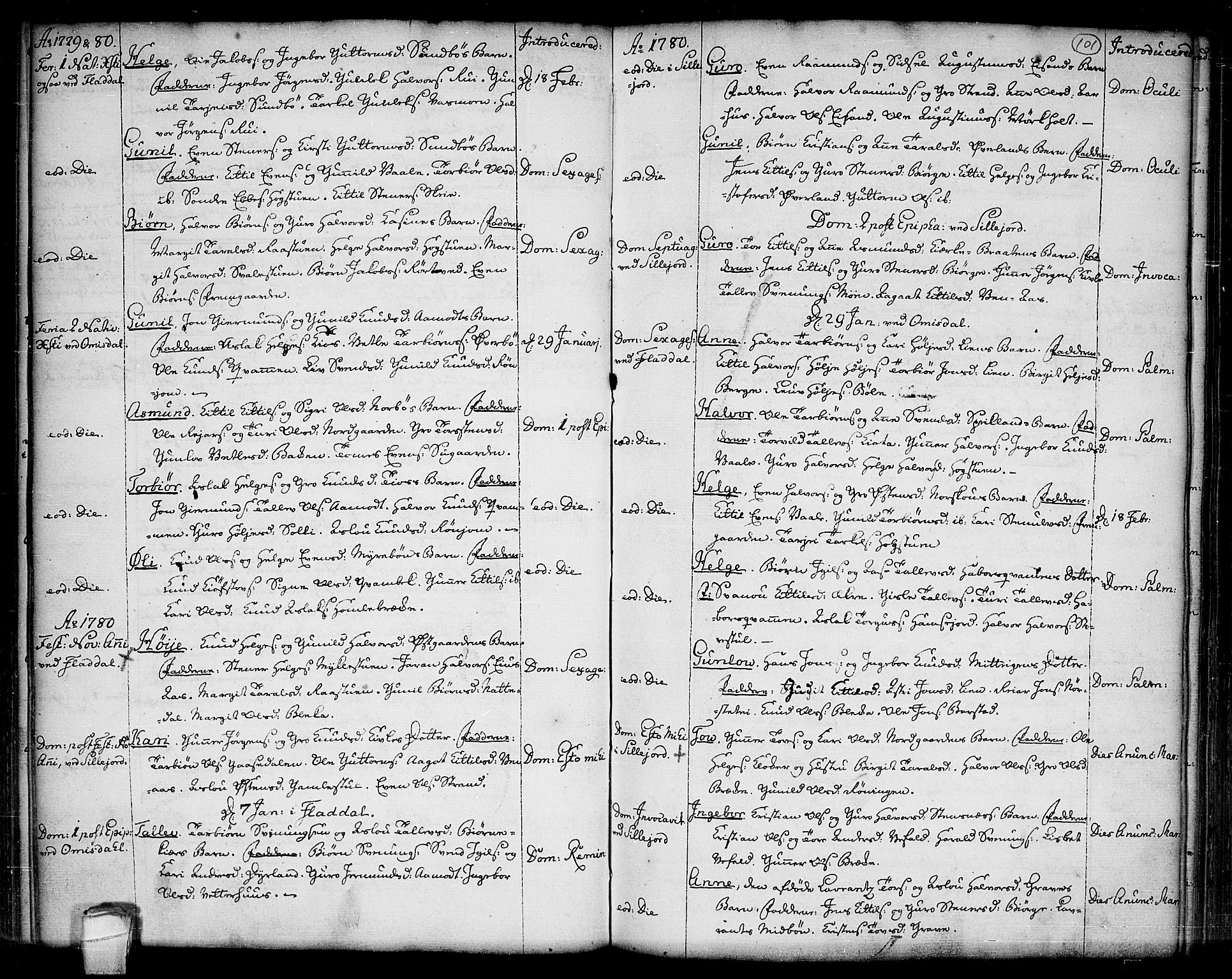 SAKO, Seljord kirkebøker, F/Fa/L0007: Ministerialbok nr. I 7, 1755-1800, s. 101
