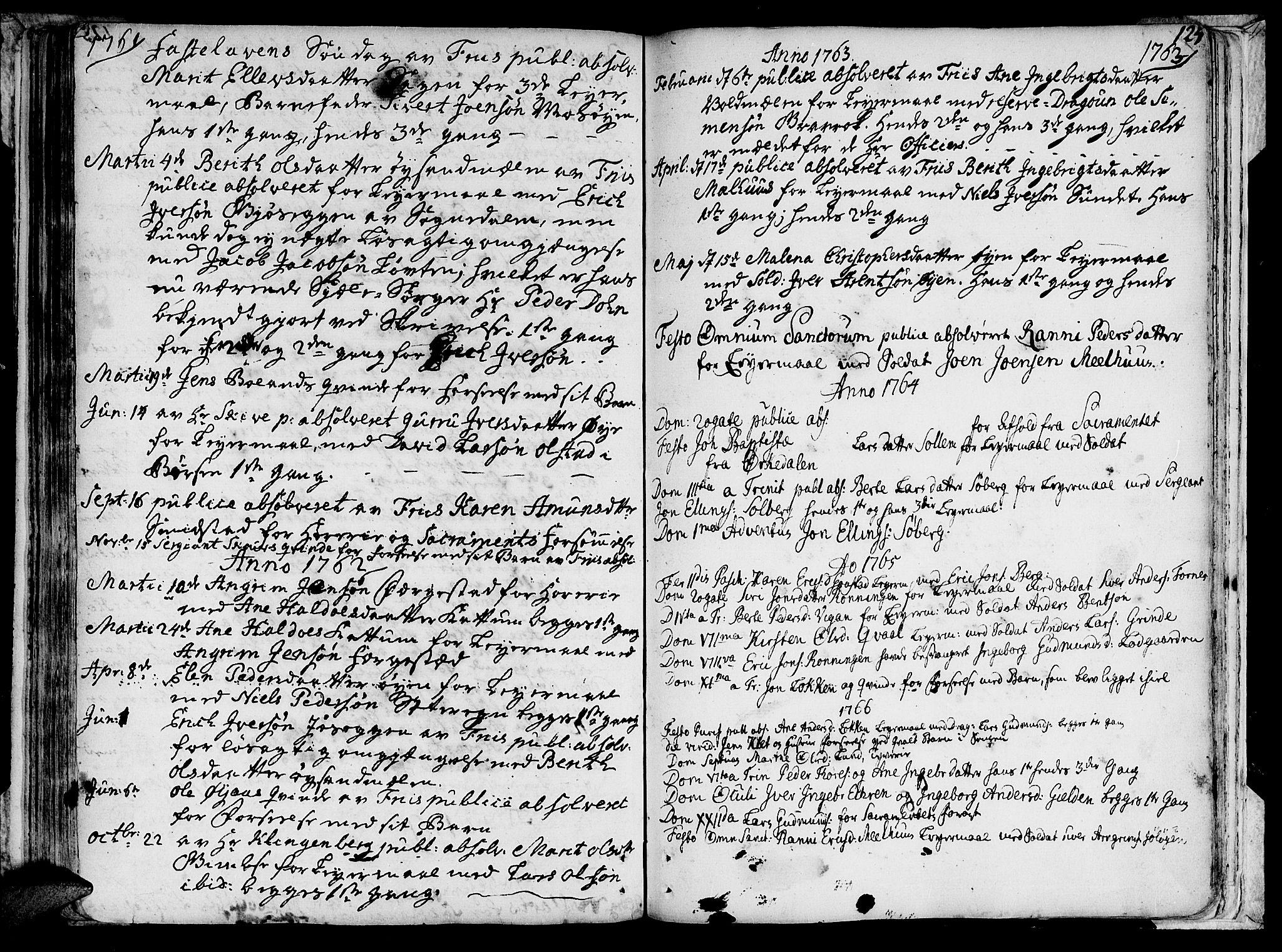 SAT, Ministerialprotokoller, klokkerbøker og fødselsregistre - Sør-Trøndelag, 691/L1057: Ministerialbok nr. 691A01 /1, 1740-1767, s. 124