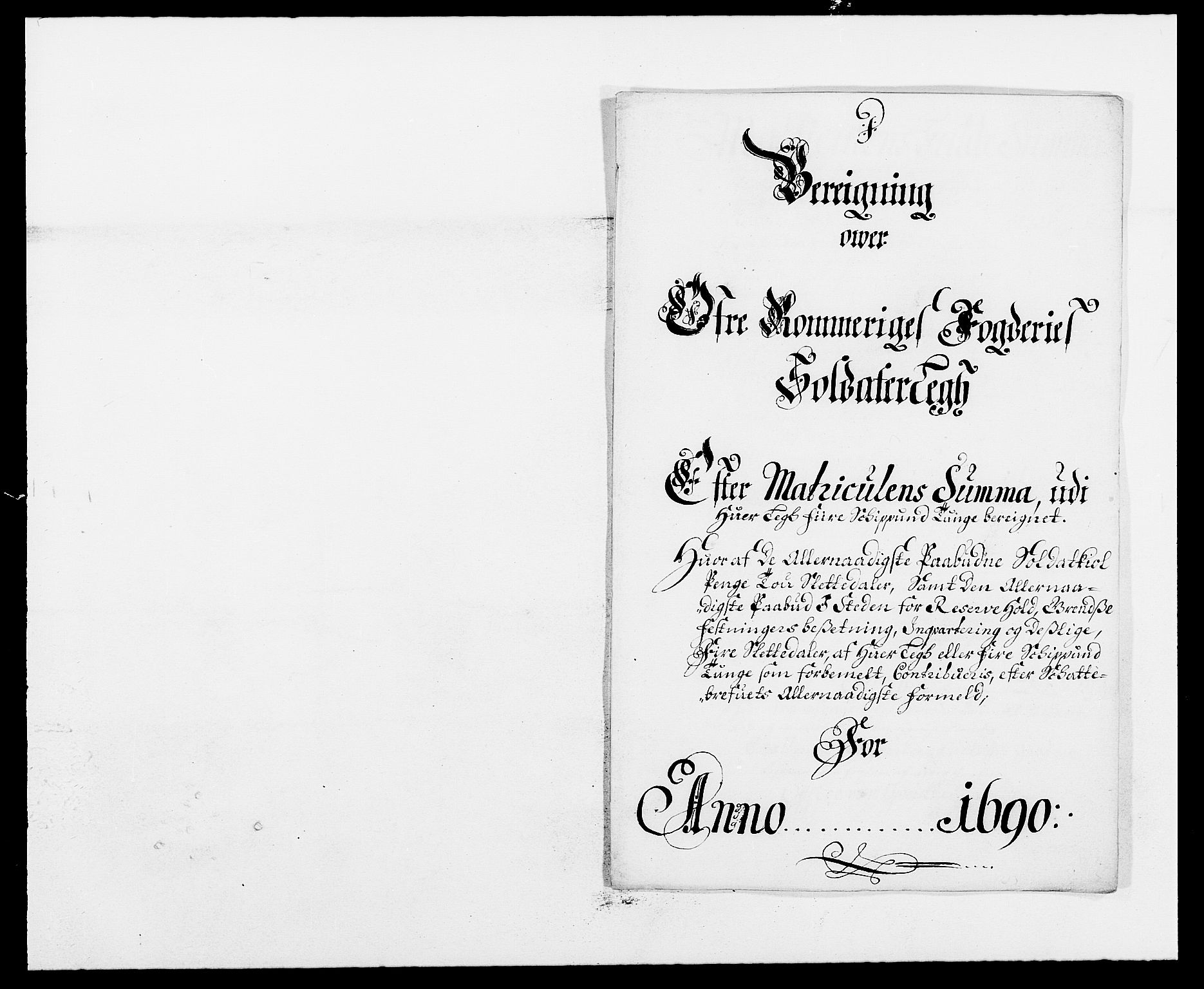RA, Rentekammeret inntil 1814, Reviderte regnskaper, Fogderegnskap, R12/L0702: Fogderegnskap Øvre Romerike, 1690, s. 175