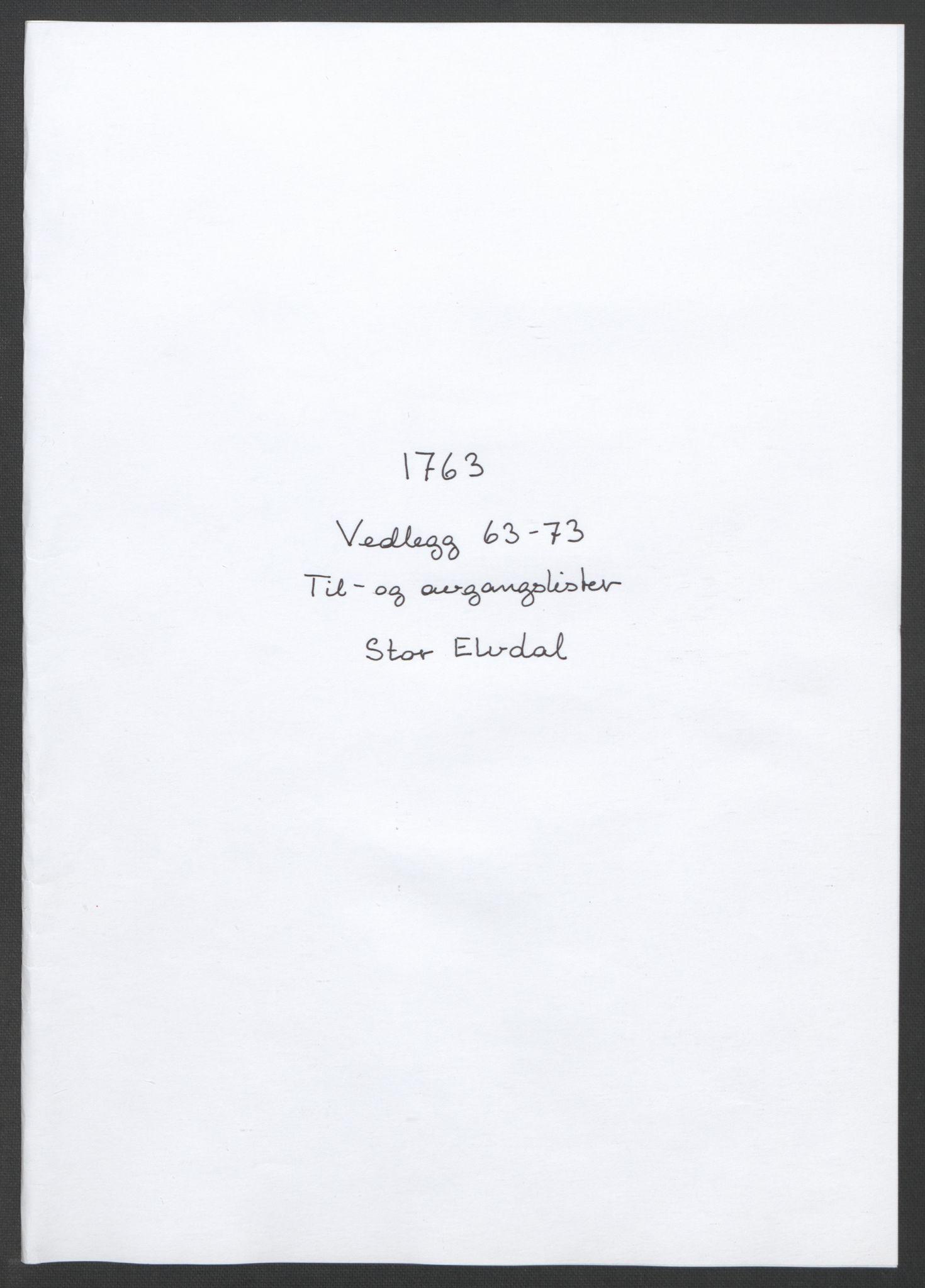 RA, Rentekammeret inntil 1814, Reviderte regnskaper, Fogderegnskap, R14/L0959: Ekstraskatten Solør og Odal, 1763-1770, s. 235