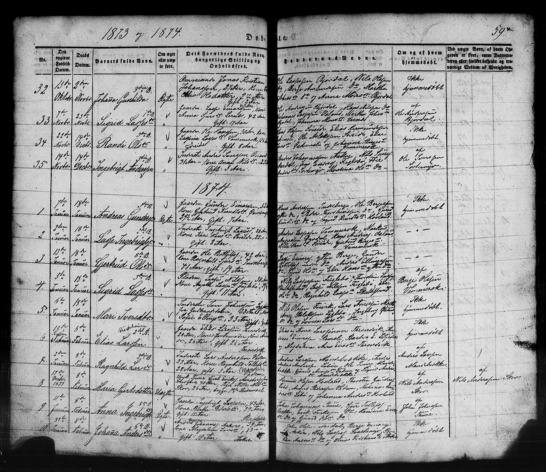 SAB, Lavik Sokneprestembete, Klokkerbok nr. B 1, 1854-1881, s. 59