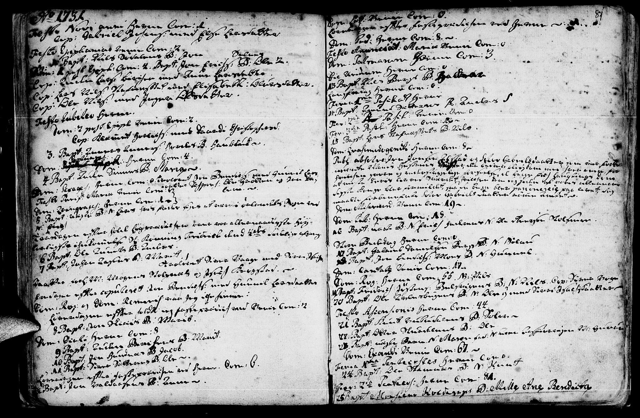 SAT, Ministerialprotokoller, klokkerbøker og fødselsregistre - Sør-Trøndelag, 630/L0488: Ministerialbok nr. 630A01, 1717-1756, s. 80-81