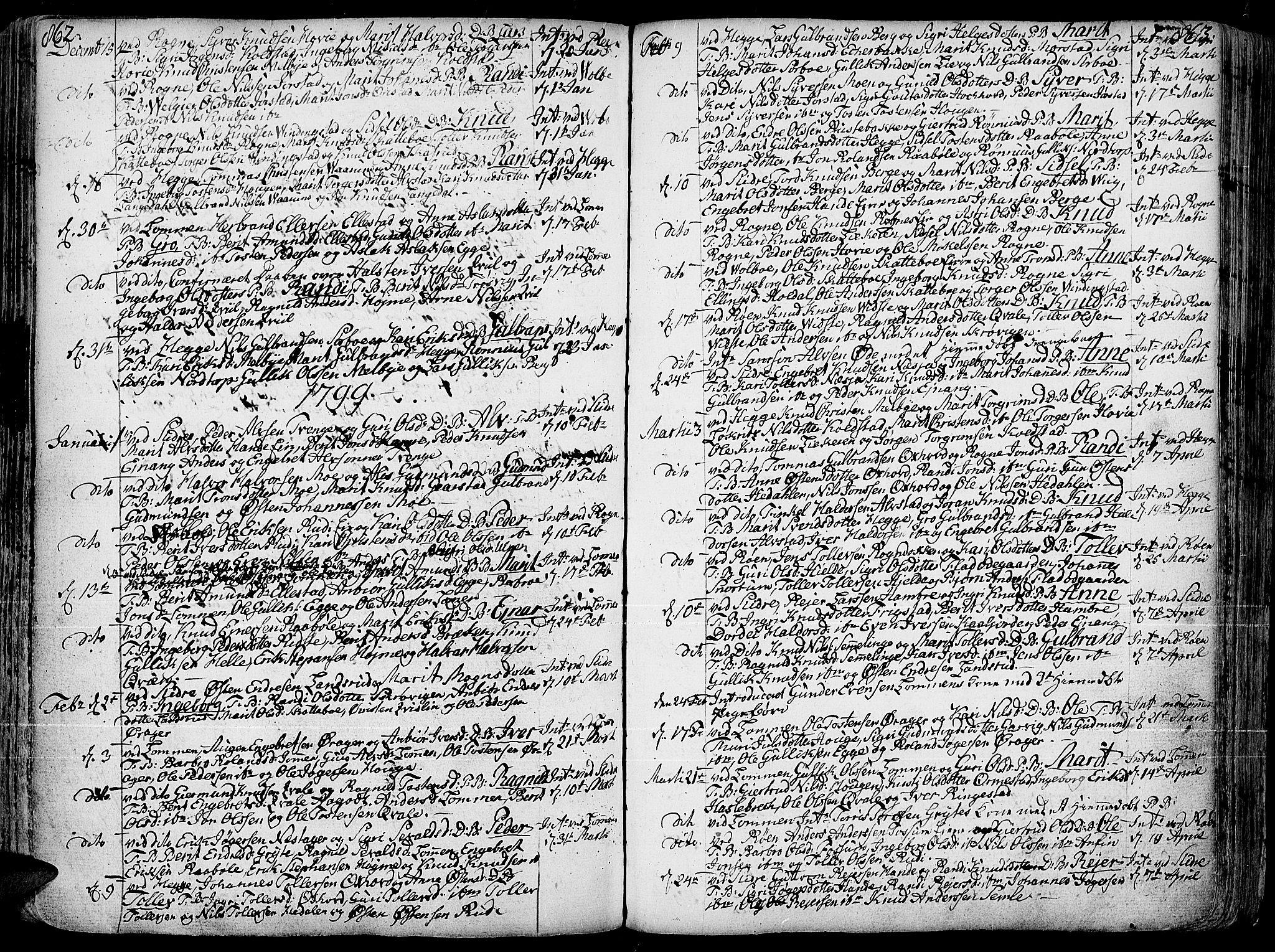 SAH, Slidre prestekontor, Ministerialbok nr. 1, 1724-1814, s. 862-863