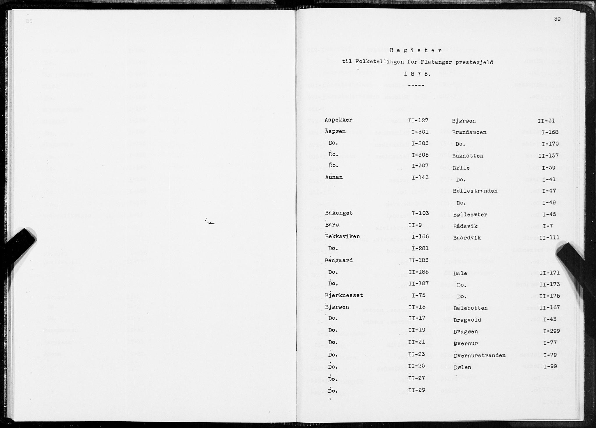 SAT, Folketelling 1875 for 1749P Flatanger prestegjeld, 1875, s. 39