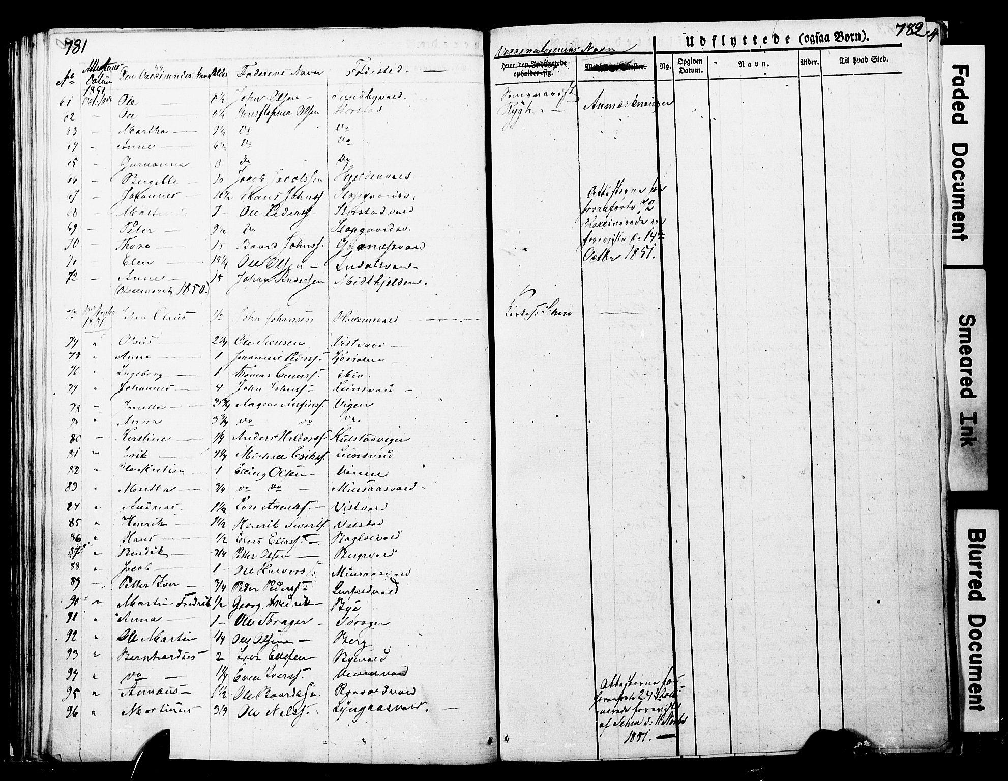 SAT, Ministerialprotokoller, klokkerbøker og fødselsregistre - Nord-Trøndelag, 723/L0243: Ministerialbok nr. 723A12, 1822-1851, s. 781-782