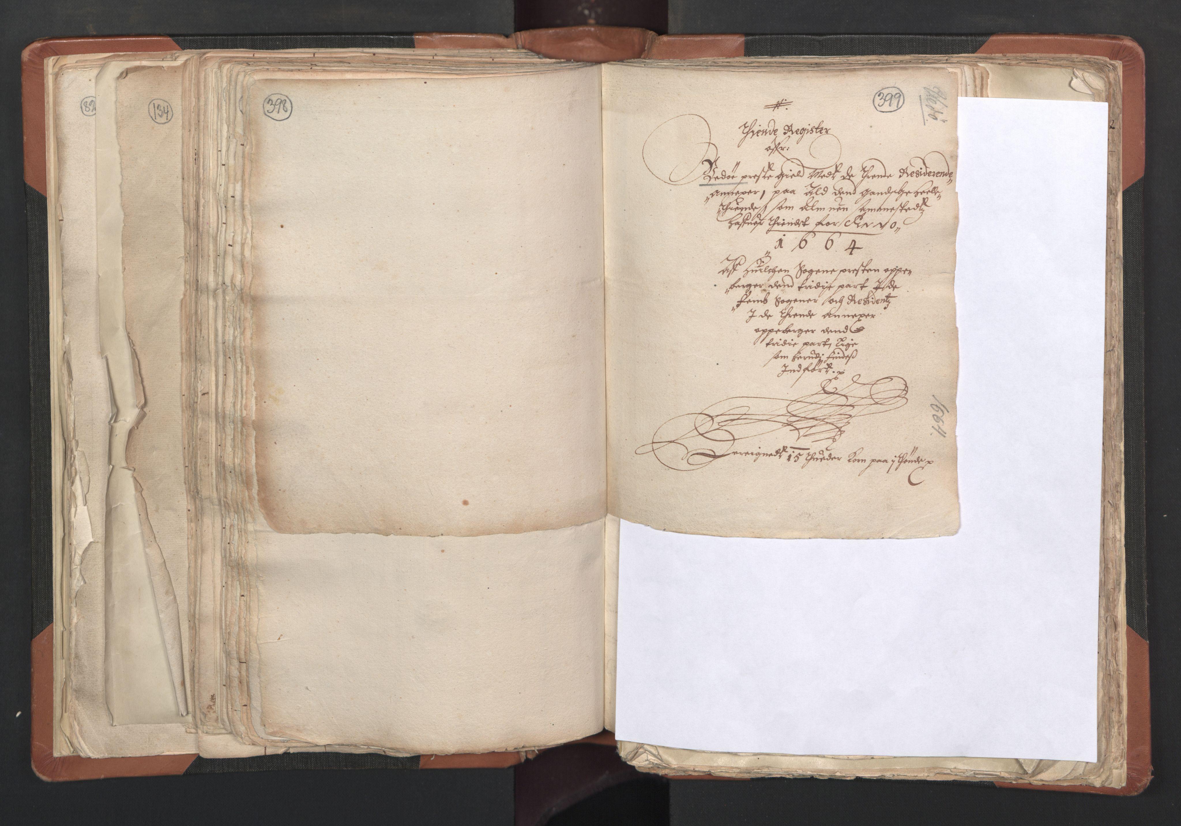 RA, Sogneprestenes manntall 1664-1666, nr. 27: Romsdal prosti, 1664-1666, s. 398-399