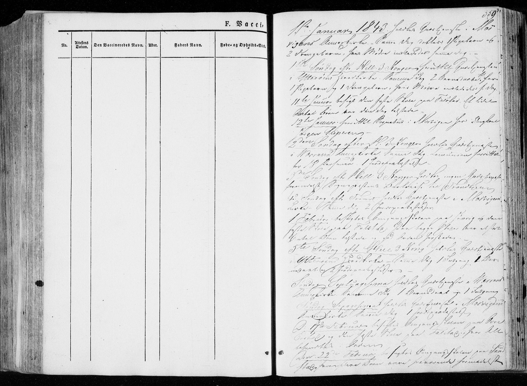 SAT, Ministerialprotokoller, klokkerbøker og fødselsregistre - Nord-Trøndelag, 722/L0218: Ministerialbok nr. 722A05, 1843-1868, s. 359
