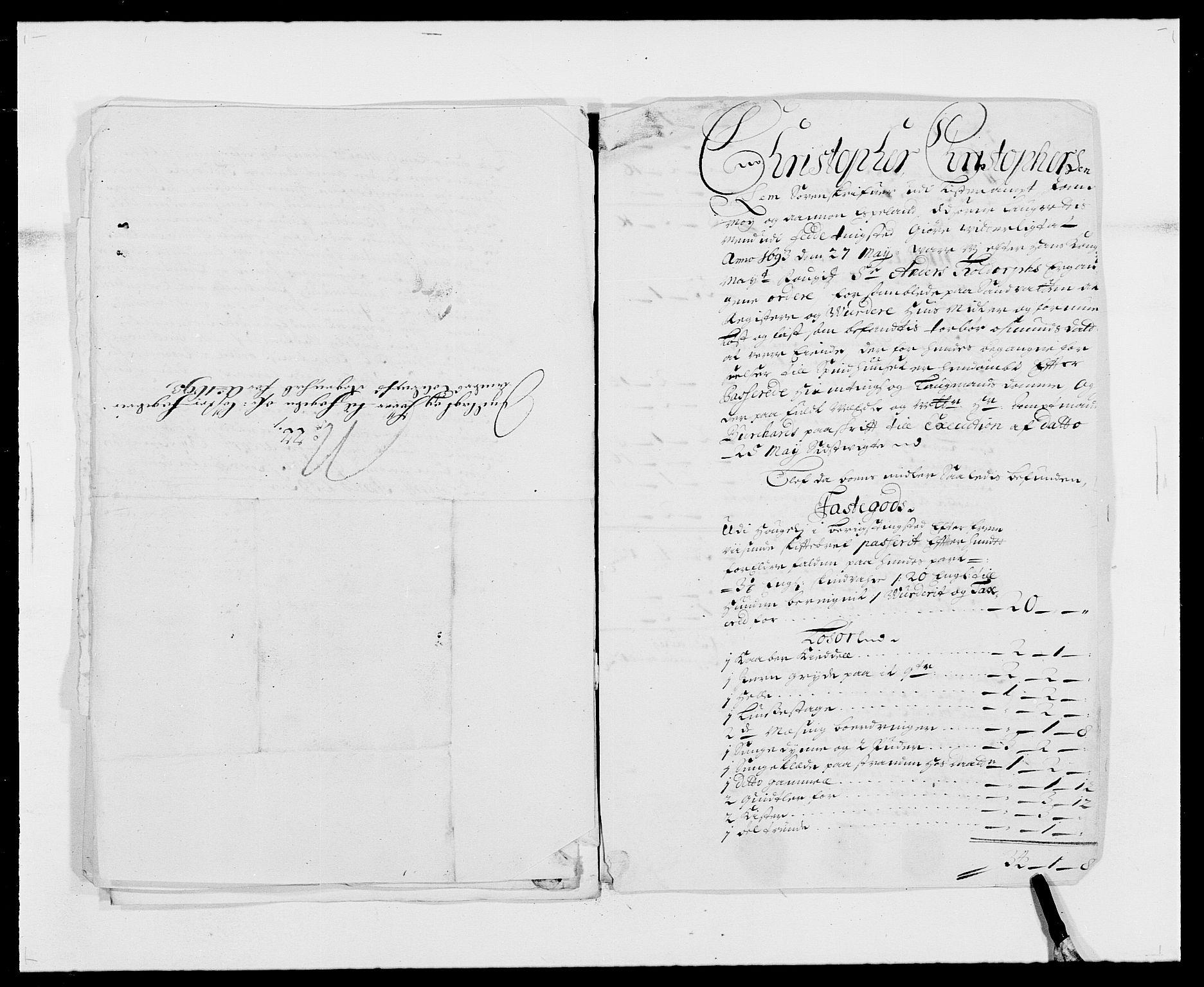 RA, Rentekammeret inntil 1814, Reviderte regnskaper, Fogderegnskap, R41/L2536: Fogderegnskap Lista, 1690-1693, s. 504