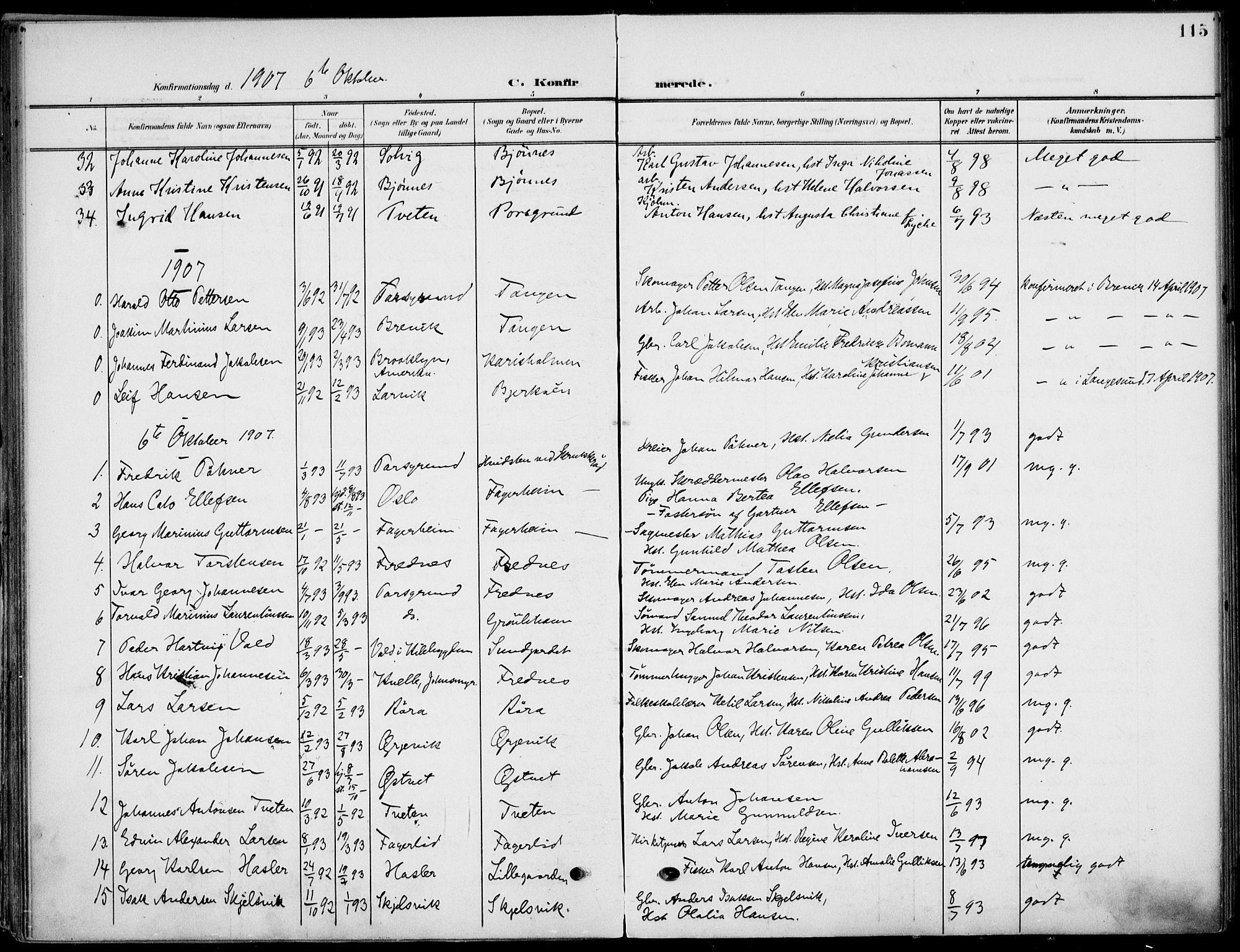 SAKO, Eidanger kirkebøker, F/Fa/L0013: Ministerialbok nr. 13, 1900-1913, s. 115
