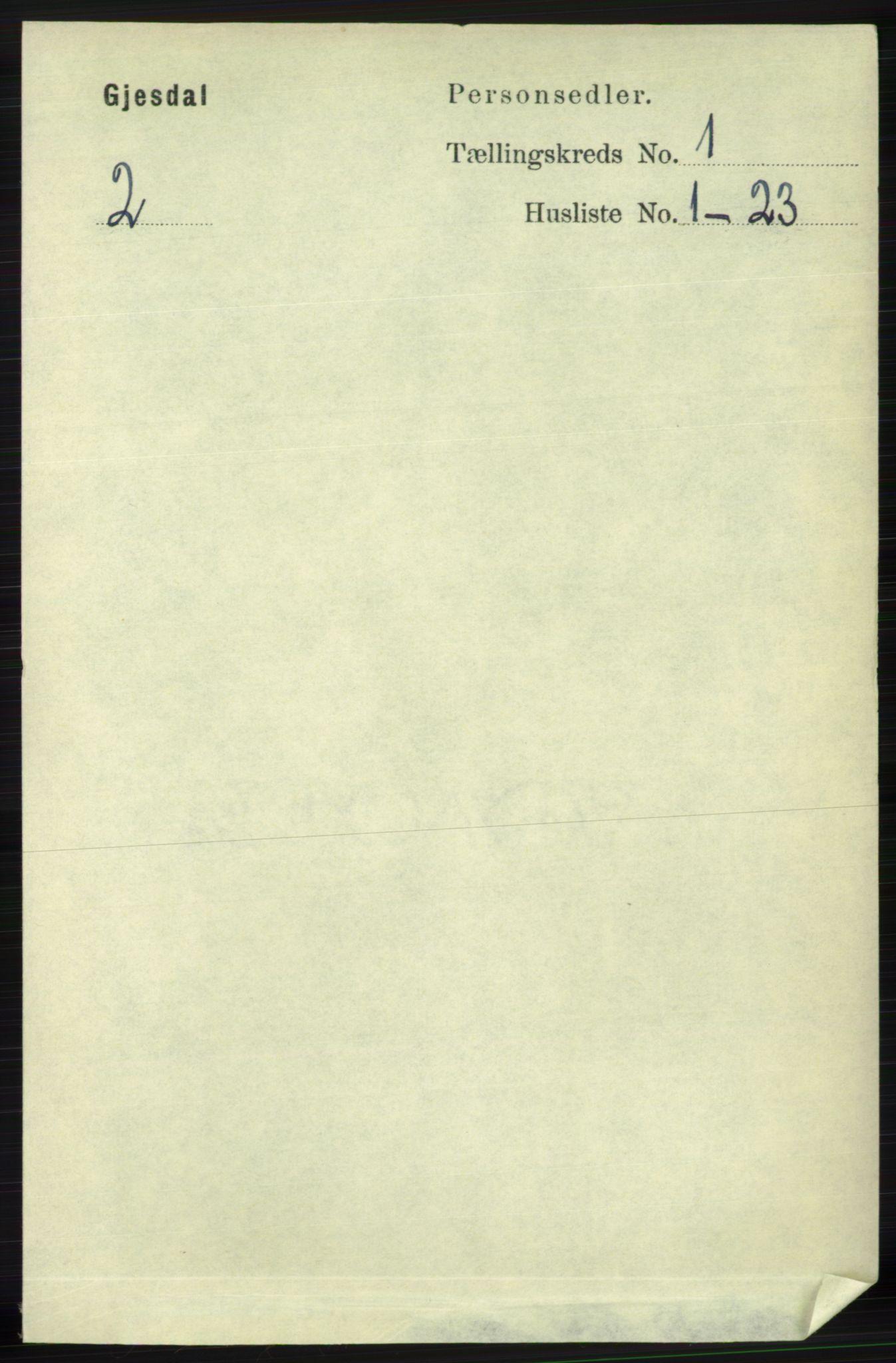 RA, Folketelling 1891 for 1122 Gjesdal herred, 1891, s. 59