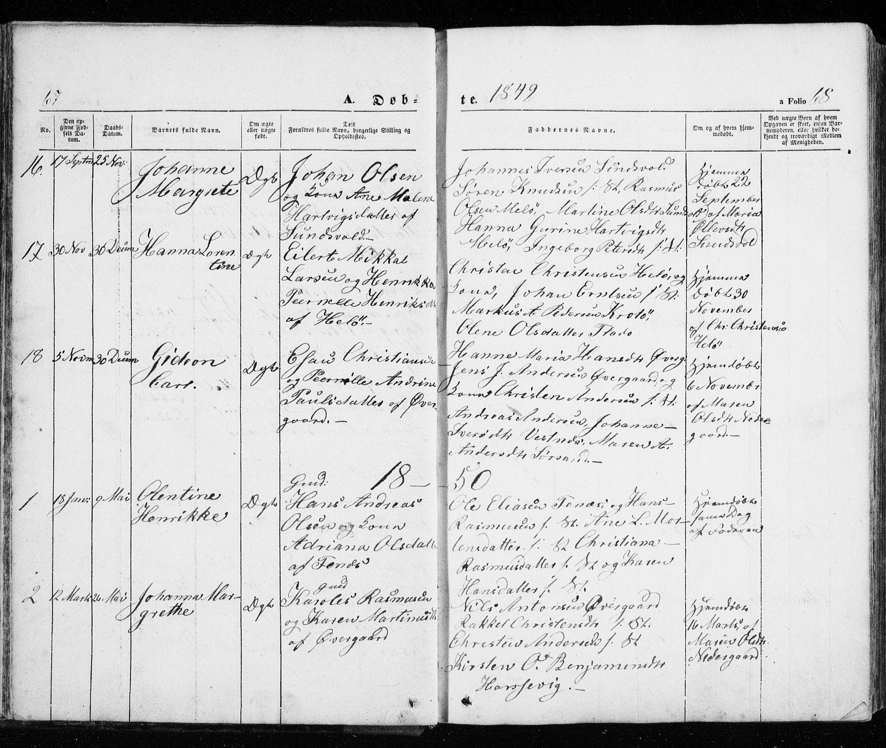 SATØ, Trondenes sokneprestkontor, H/Ha/L0010kirke: Ministerialbok nr. 10, 1840-1865, s. 67-68