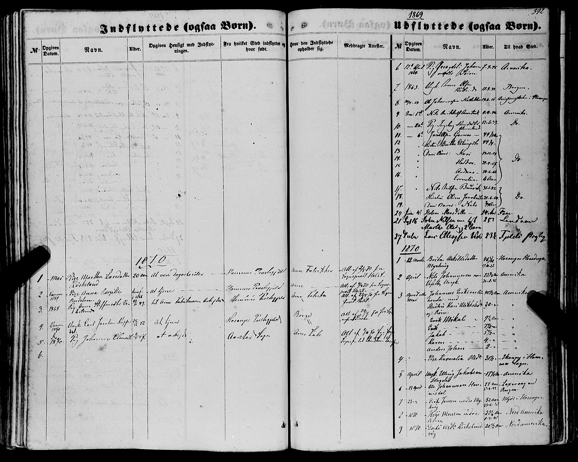 SAB, Haus Sokneprestembete, H/Haa: Ministerialbok nr. A 17, 1858-1870, s. 392