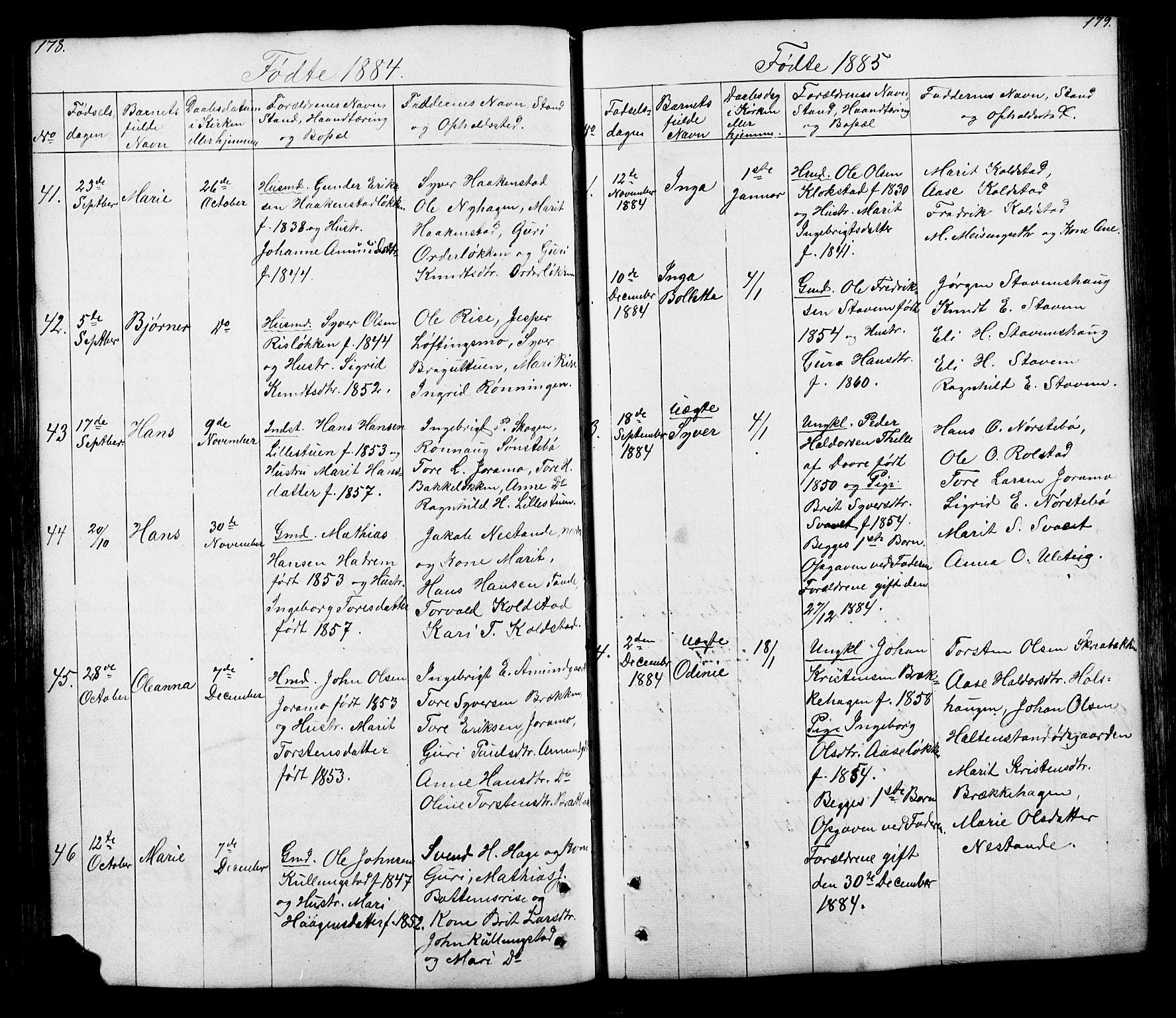 SAH, Lesja prestekontor, Klokkerbok nr. 5, 1850-1894, s. 178-179