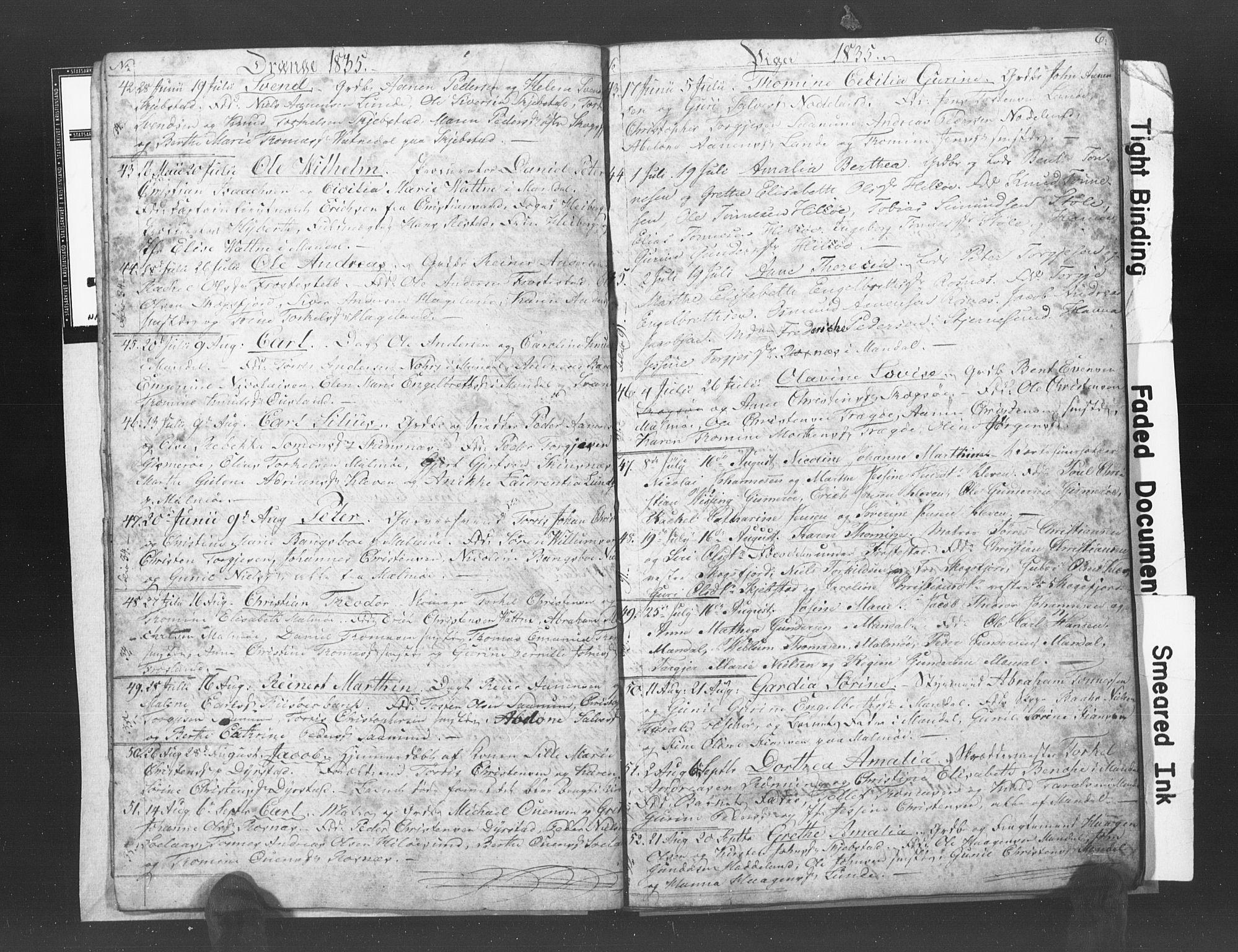 SAK, Mandal sokneprestkontor, F/Fb/Fba/L0003: Klokkerbok nr. B 1C, 1834-1838, s. 6
