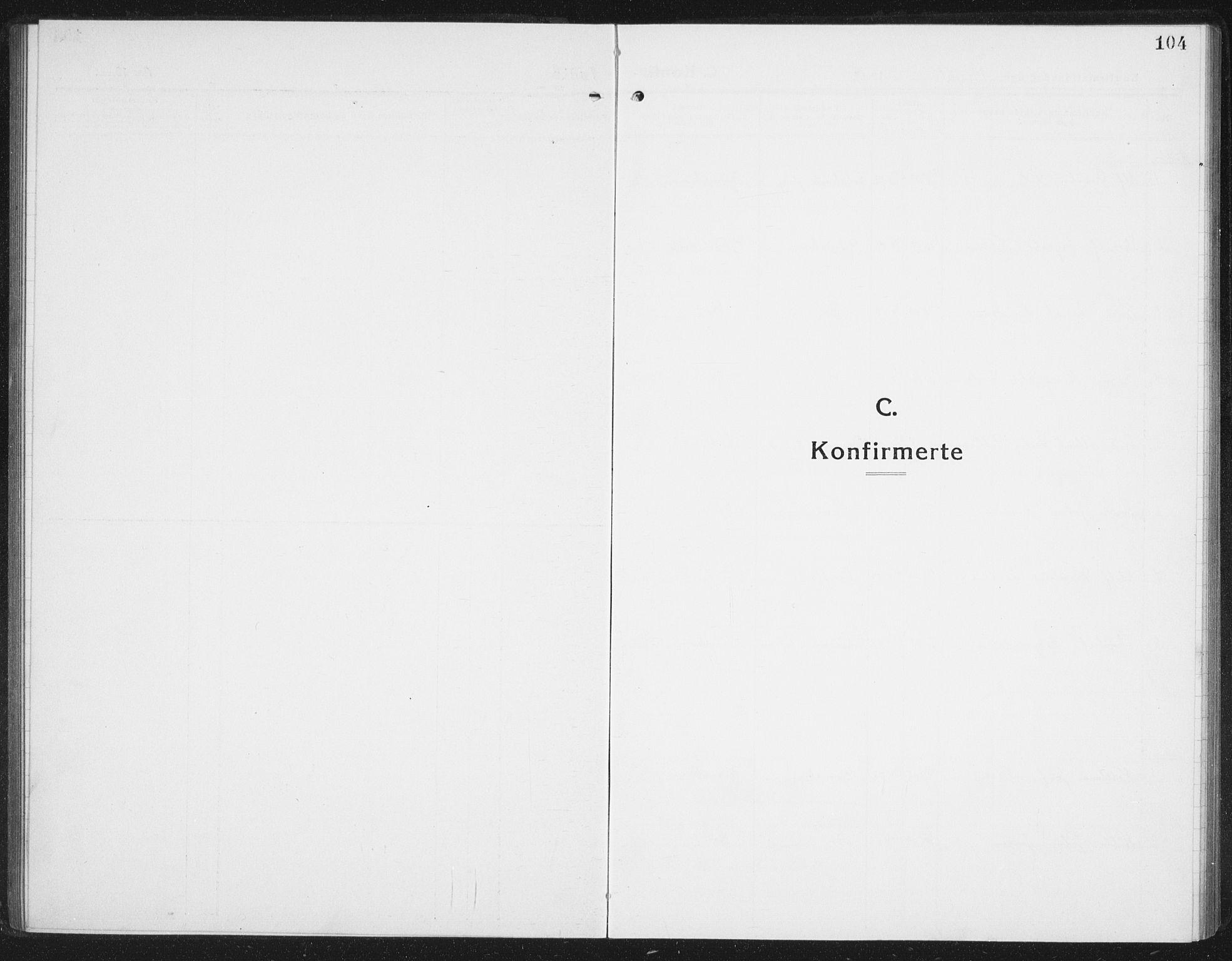 SAT, Ministerialprotokoller, klokkerbøker og fødselsregistre - Nordland, 898/L1428: Klokkerbok nr. 898C03, 1918-1938, s. 104