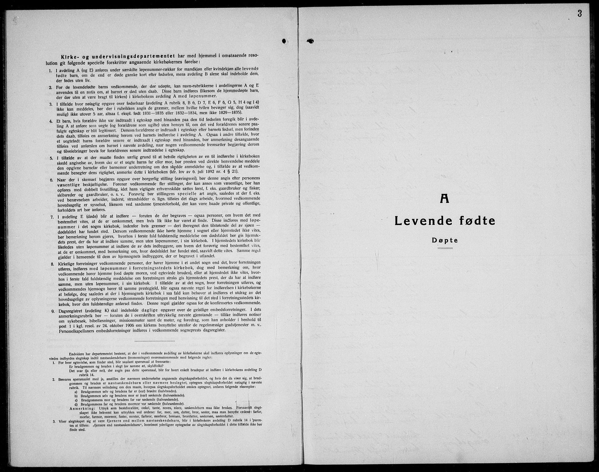 SAKO, Kviteseid kirkebøker, G/Gc/L0002: Klokkerbok nr. III 2, 1917-1937, s. 3