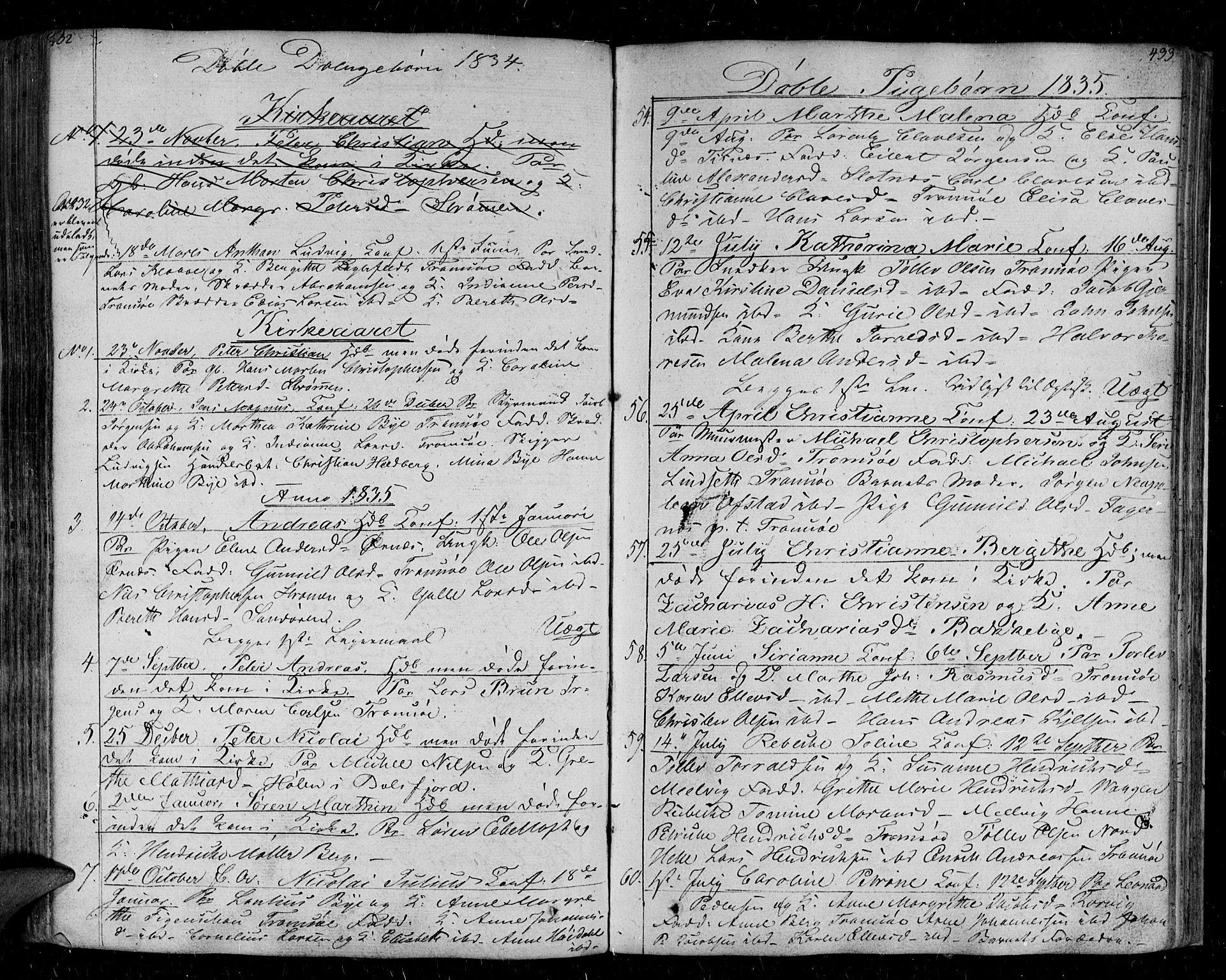SATØ, Tromsø sokneprestkontor/stiftsprosti/domprosti, G/Ga/L0008kirke: Ministerialbok nr. 8, 1829-1837, s. 432-433