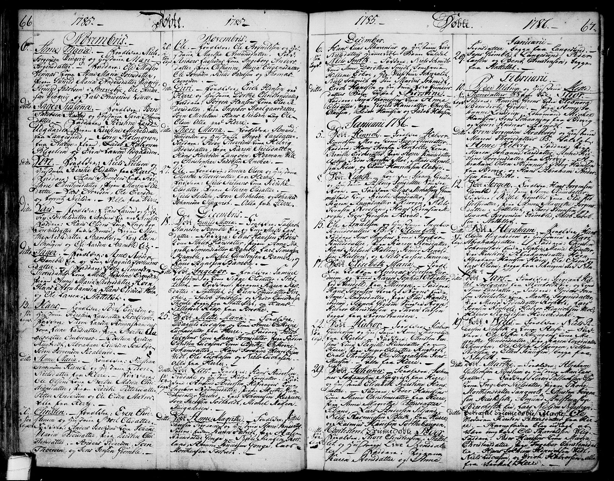 SAKO, Bamble kirkebøker, F/Fa/L0002: Ministerialbok nr. I 2, 1775-1814, s. 66-67