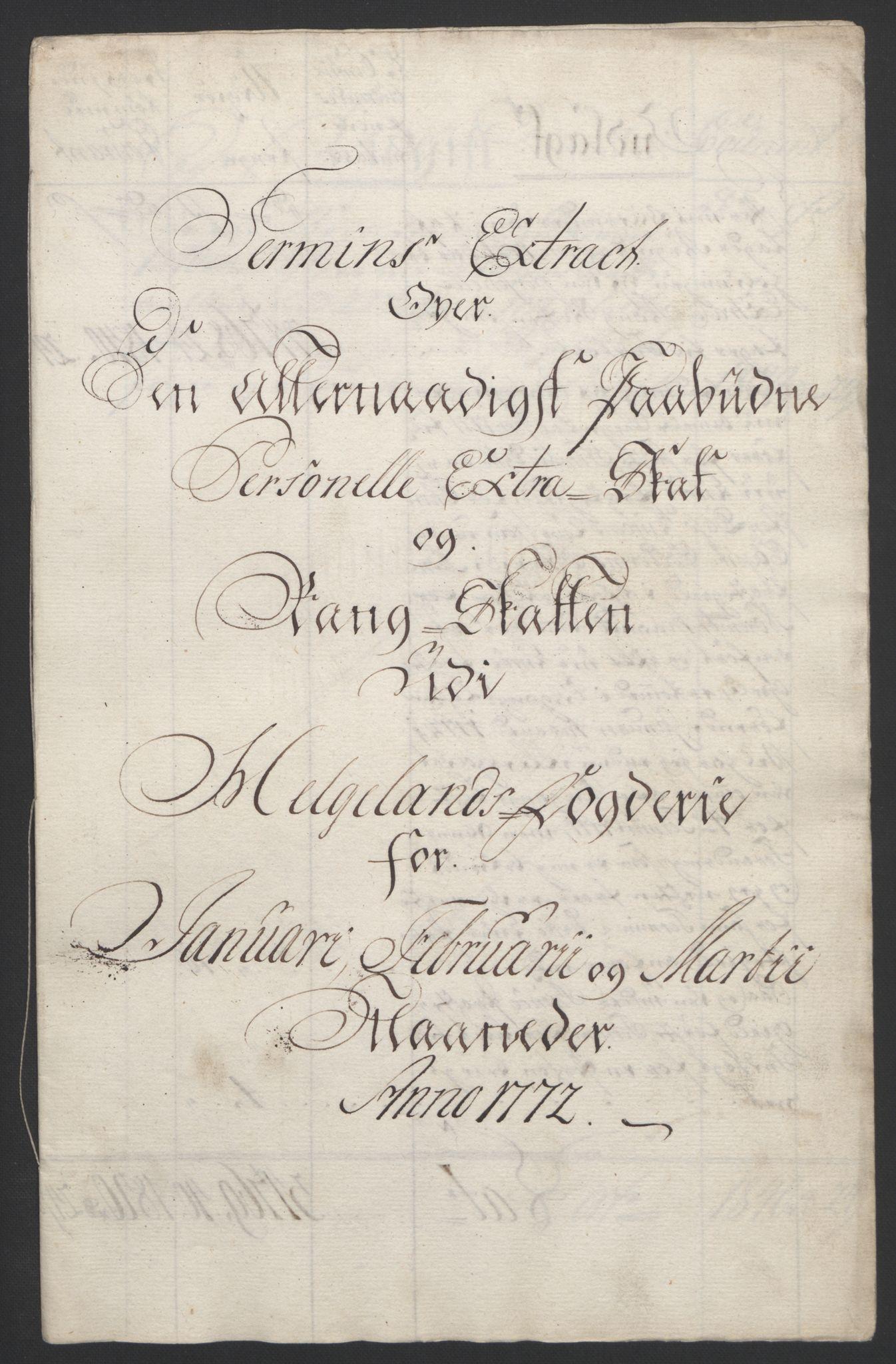 RA, Rentekammeret inntil 1814, Reviderte regnskaper, Fogderegnskap, R65/L4573: Ekstraskatten Helgeland, 1762-1772, s. 410