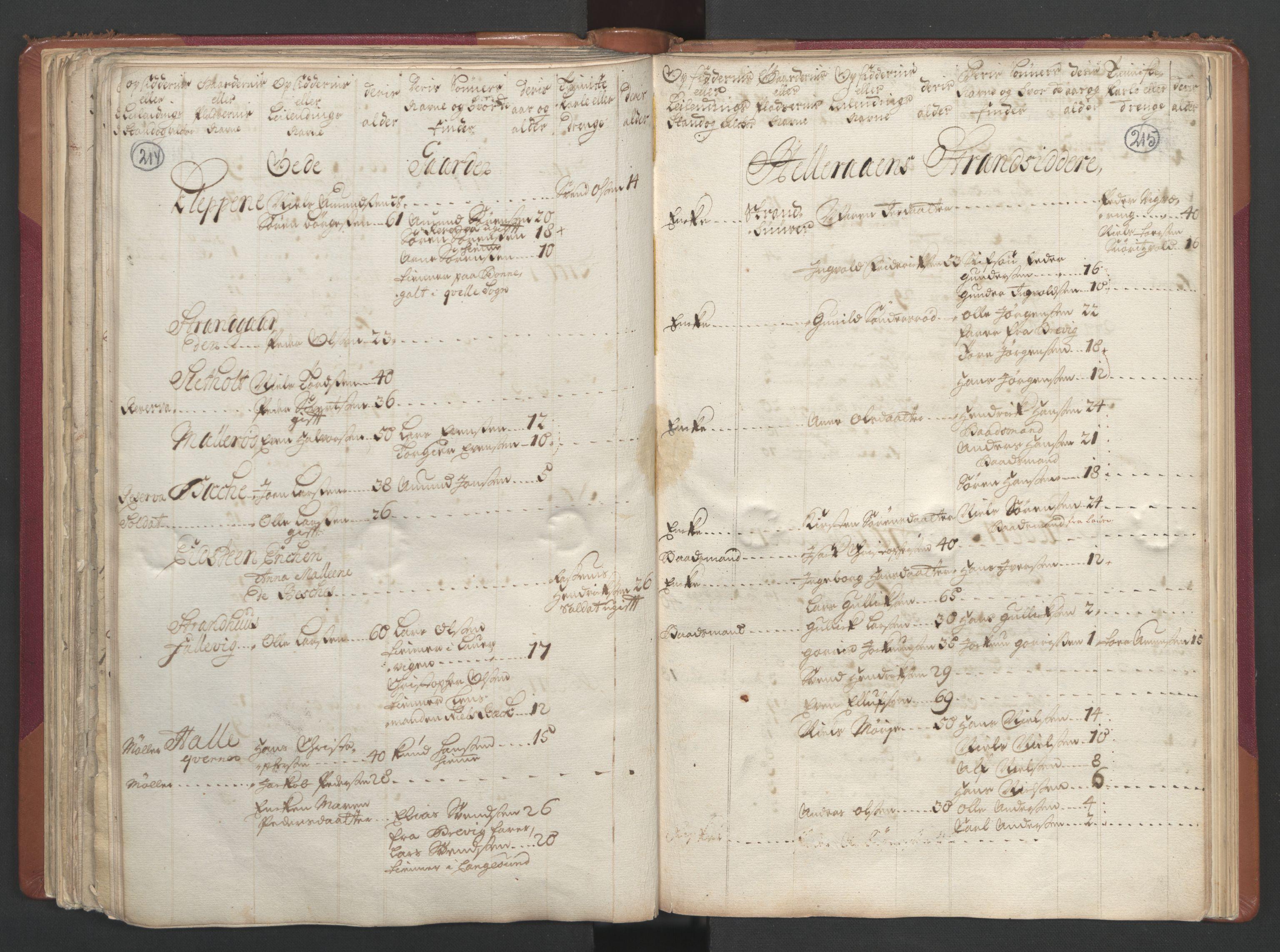 RA, Manntallet 1701, nr. 2: Solør, Odal og Østerdal fogderi og Larvik grevskap, 1701, s. 214-215