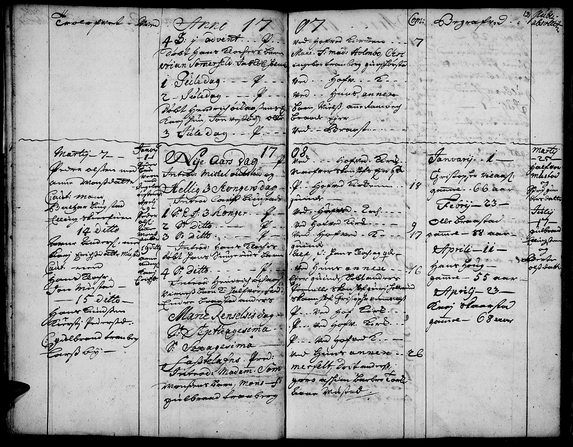 SAH, Vardal prestekontor, H/Ha/Haa/L0001: Ministerialbok nr. 1, 1706-1748, s. 12
