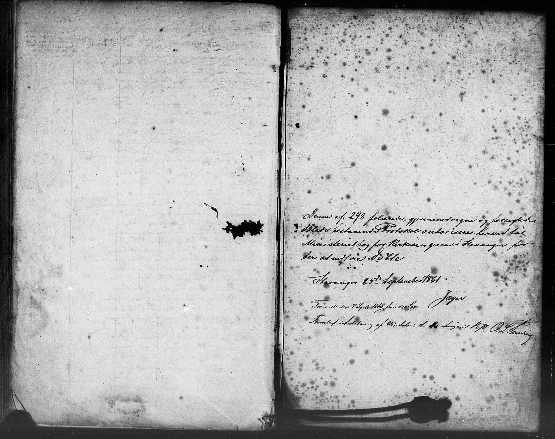 SAST, Domkirken sokneprestkontor, 30/30BB/L0012: Klokkerbok nr. B 12, 1860-1871