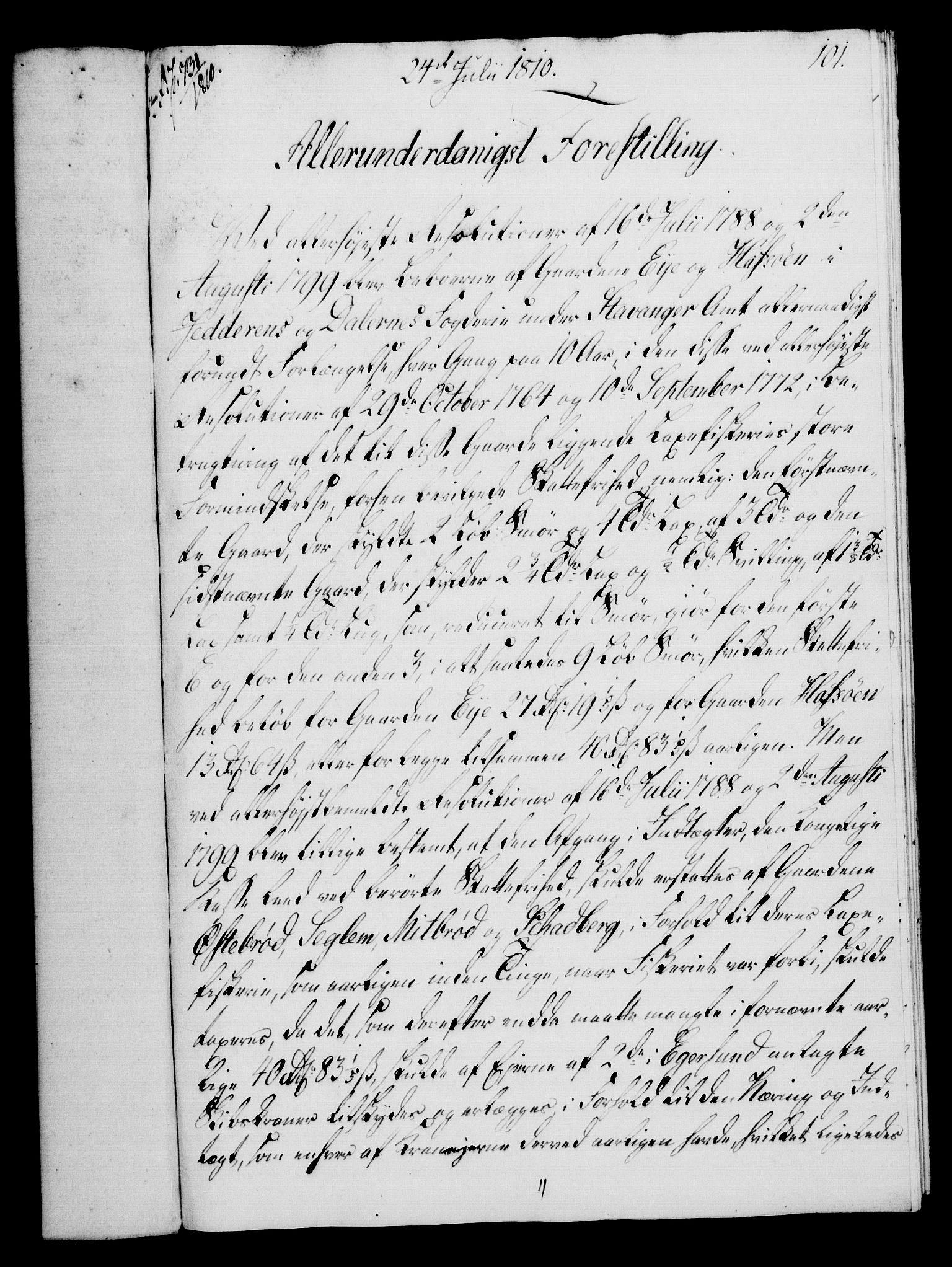RA, Rentekammeret, Kammerkanselliet, G/Gf/Gfa/L0092: Norsk relasjons- og resolusjonsprotokoll (merket RK 52.92), 1810, s. 383