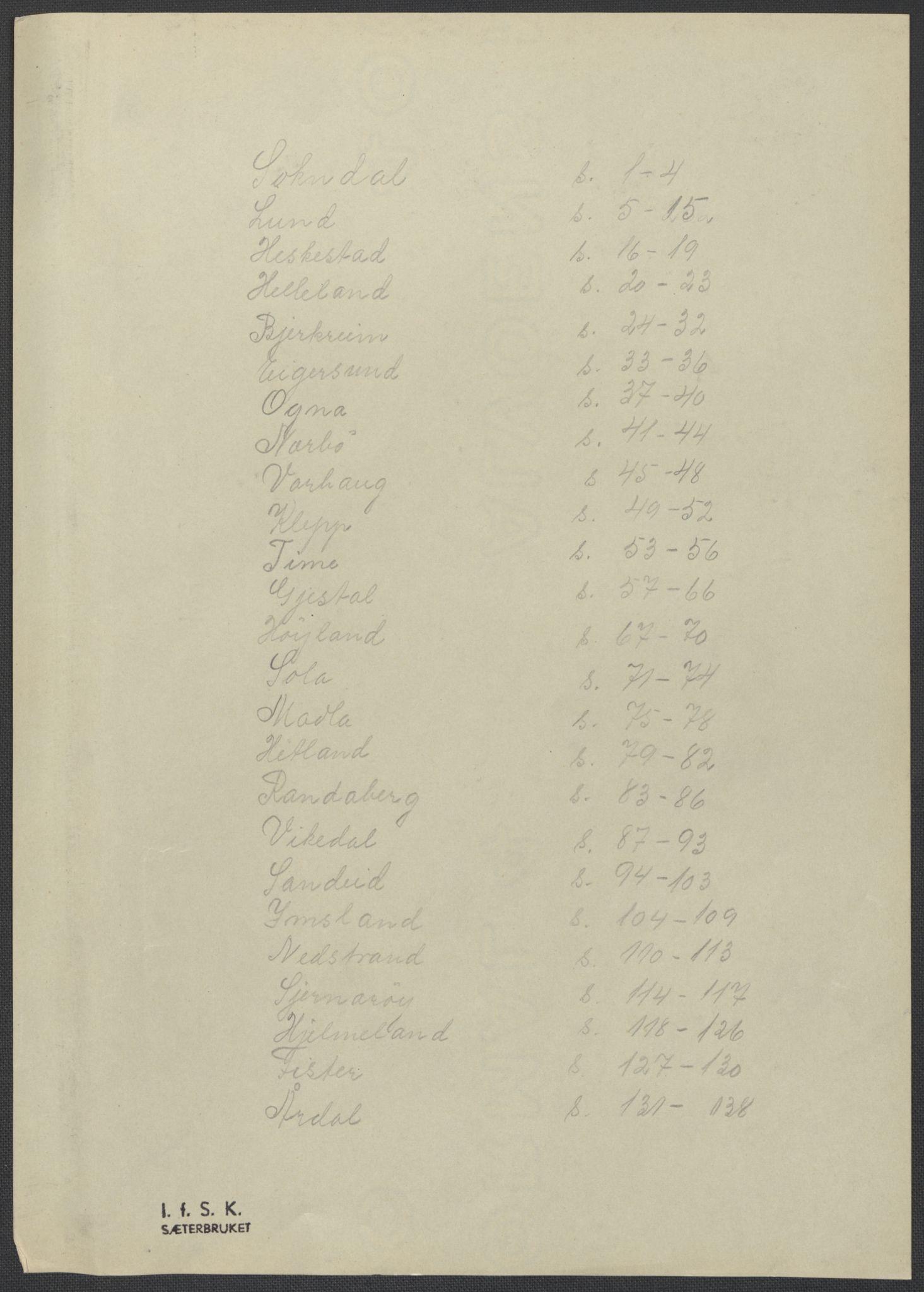 RA, Instituttet for sammenlignende kulturforskning, F/Fc/L0009: Eske B9:, 1932-1935, s. upaginert