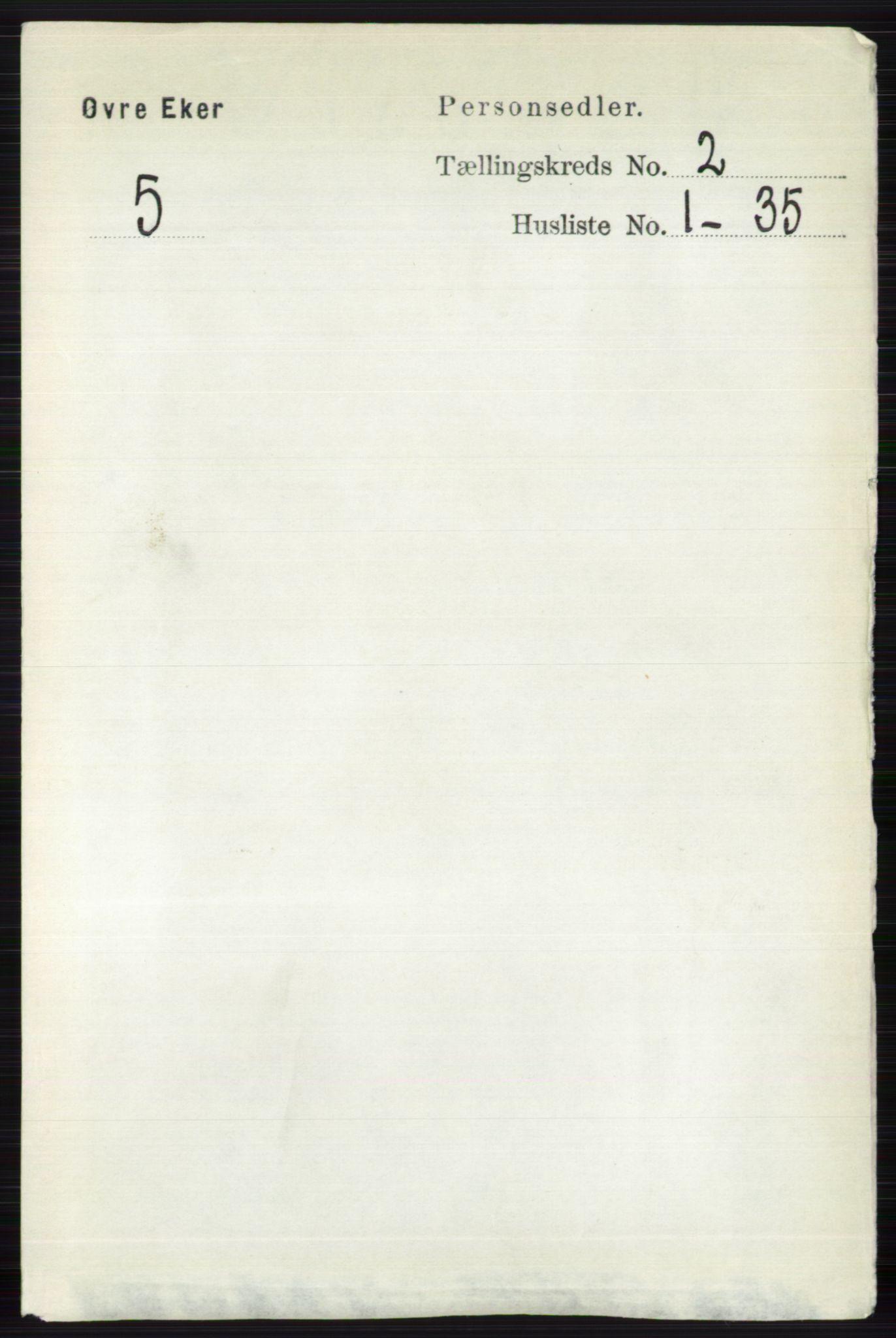 RA, Folketelling 1891 for 0624 Øvre Eiker herred, 1891, s. 537