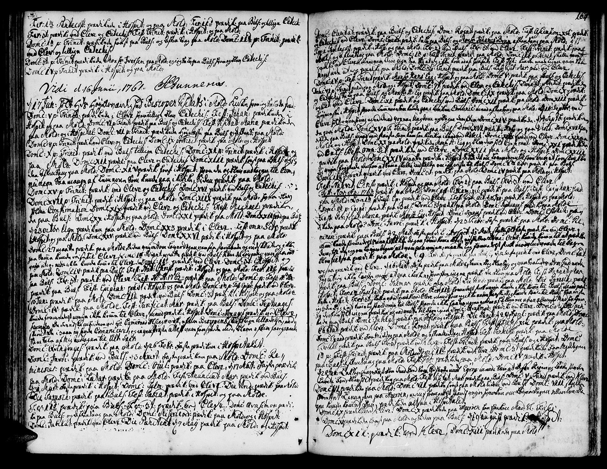 SAT, Ministerialprotokoller, klokkerbøker og fødselsregistre - Møre og Romsdal, 555/L0648: Ministerialbok nr. 555A01, 1759-1793, s. 164