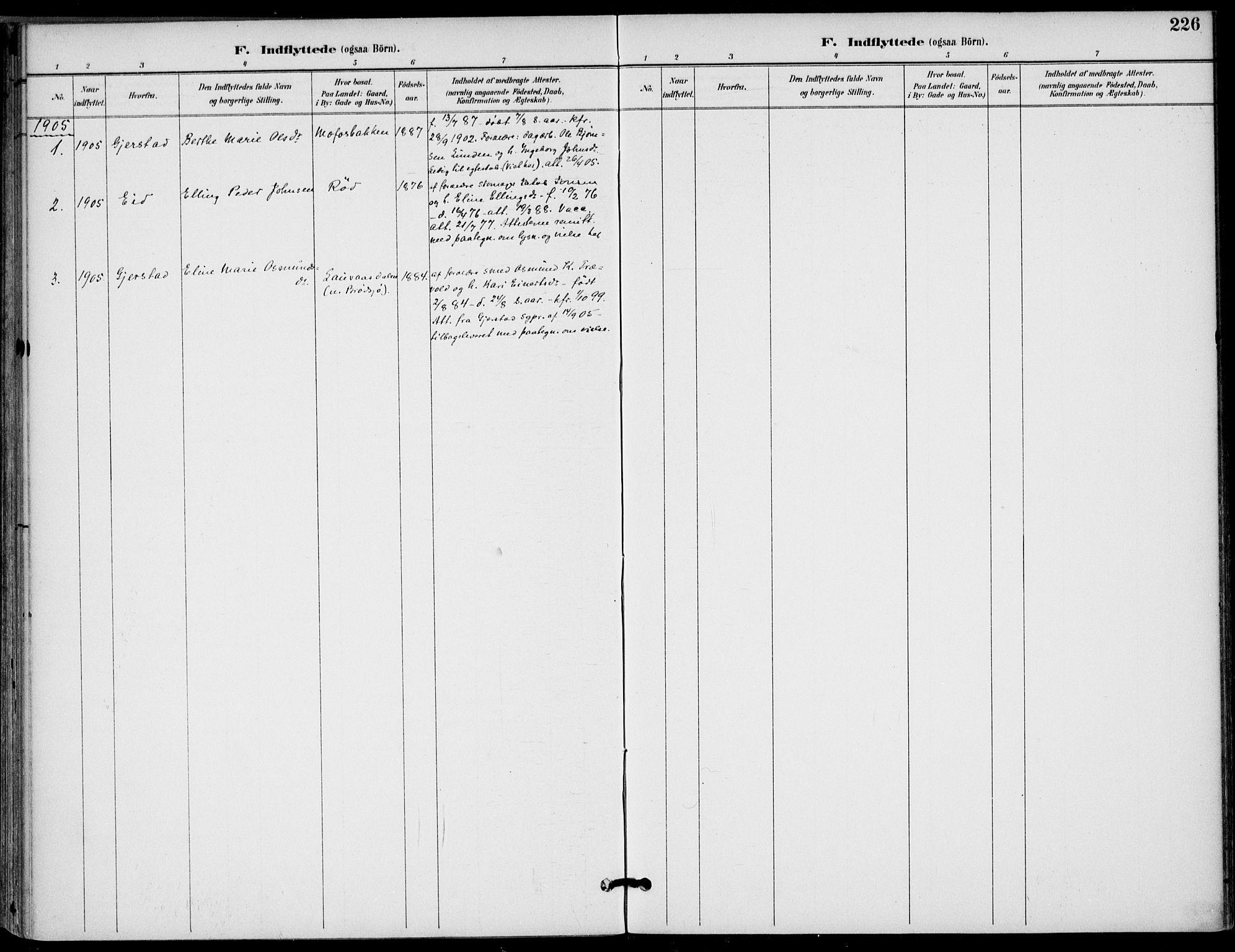SAKO, Drangedal kirkebøker, F/Fa/L0012: Ministerialbok nr. 12, 1895-1905, s. 226