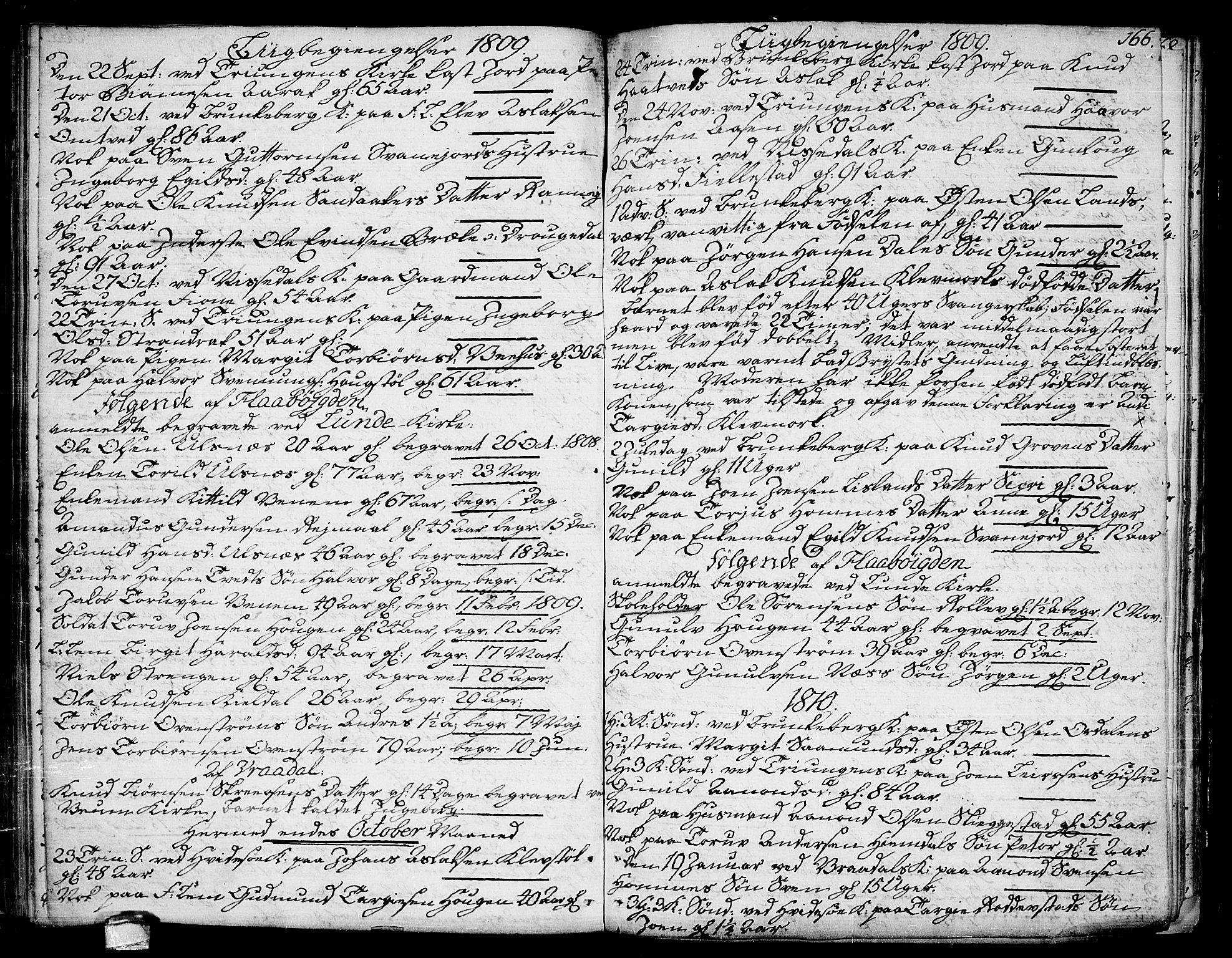 SAKO, Kviteseid kirkebøker, F/Fa/L0004: Ministerialbok nr. I 4, 1800-1814, s. 166