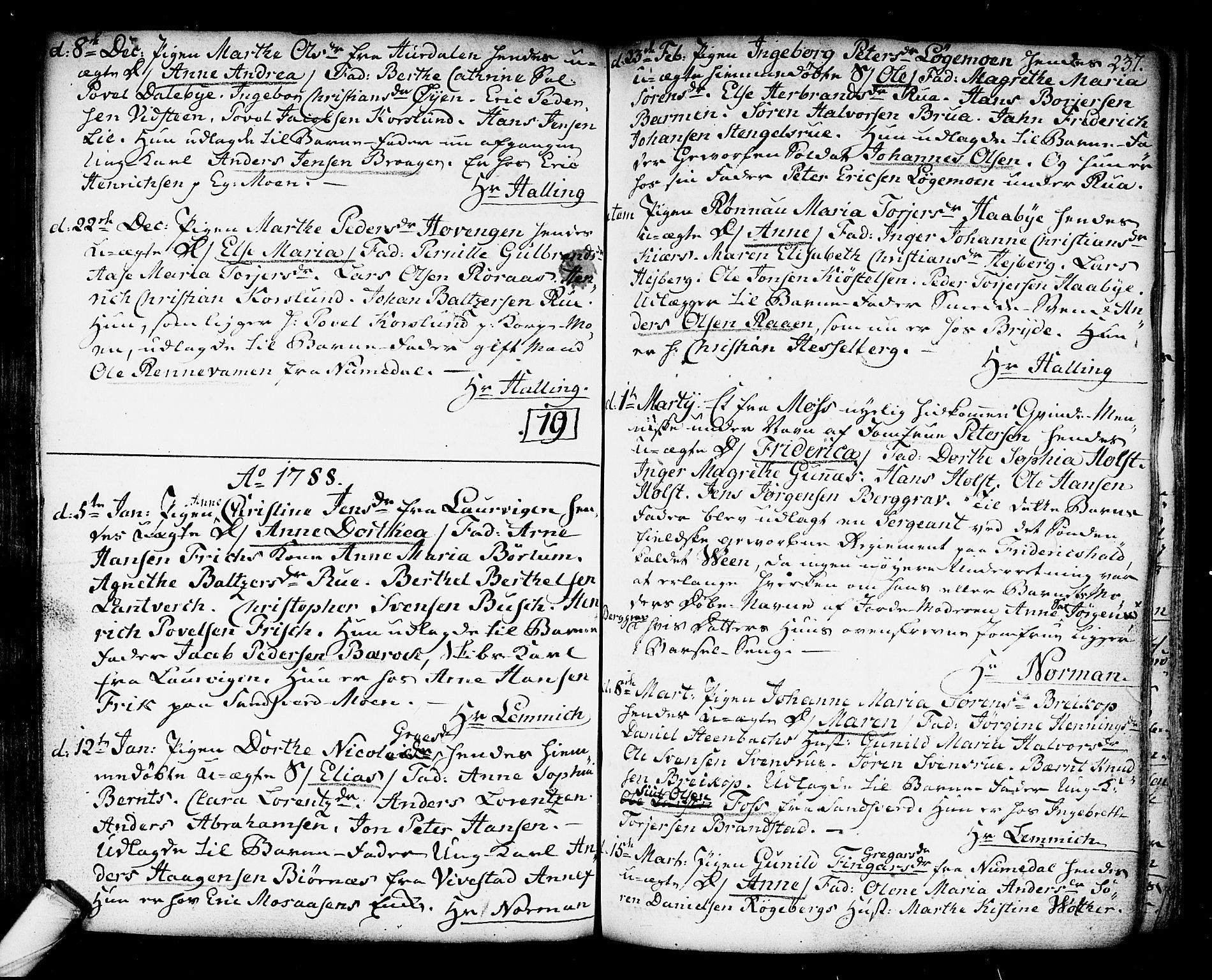 SAKO, Kongsberg kirkebøker, F/Fa/L0006: Ministerialbok nr. I 6, 1783-1797, s. 237
