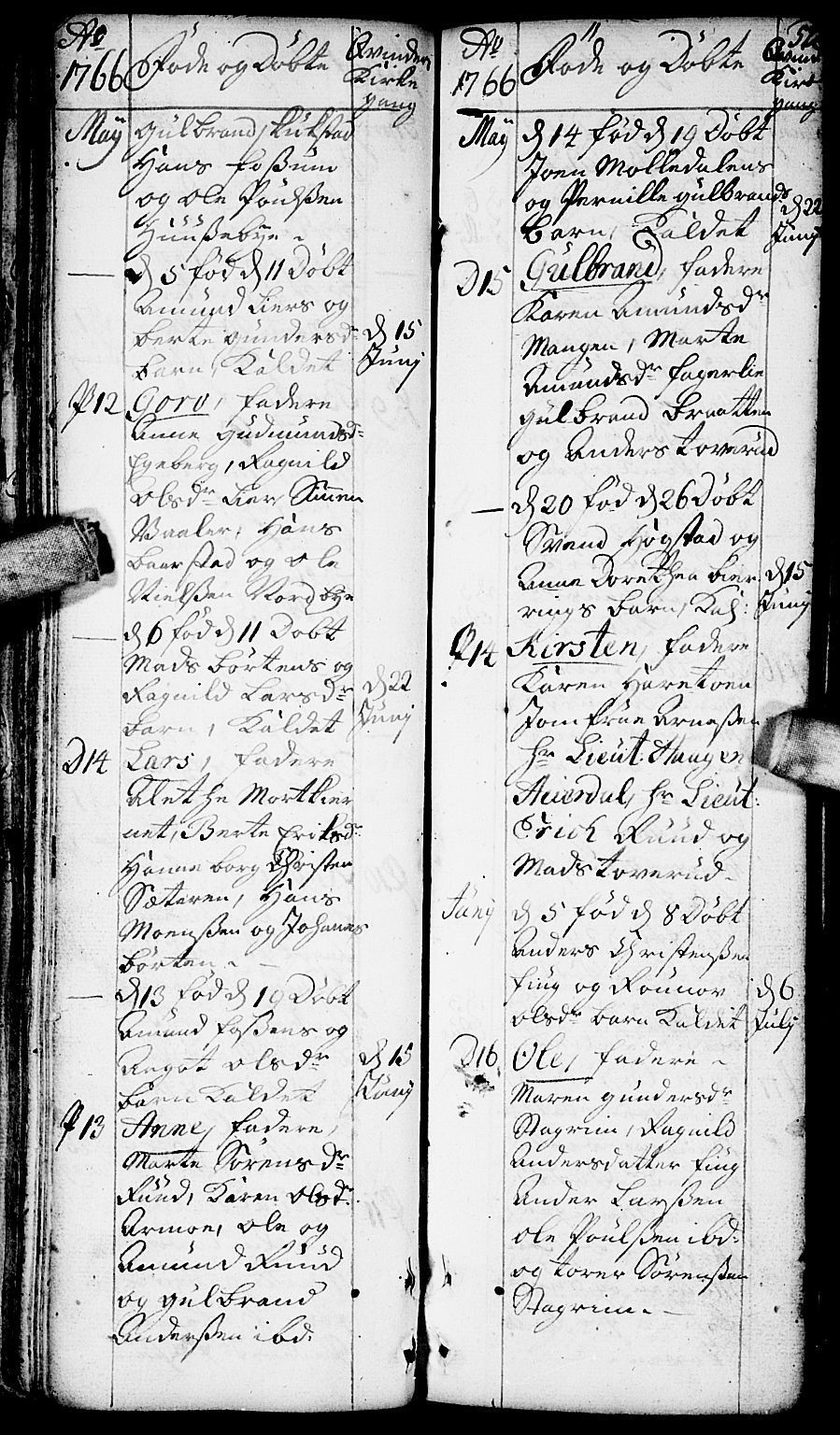 SAO, Aurskog prestekontor Kirkebøker, F/Fa/L0002: Ministerialbok nr. I 2, 1735-1766, s. 52