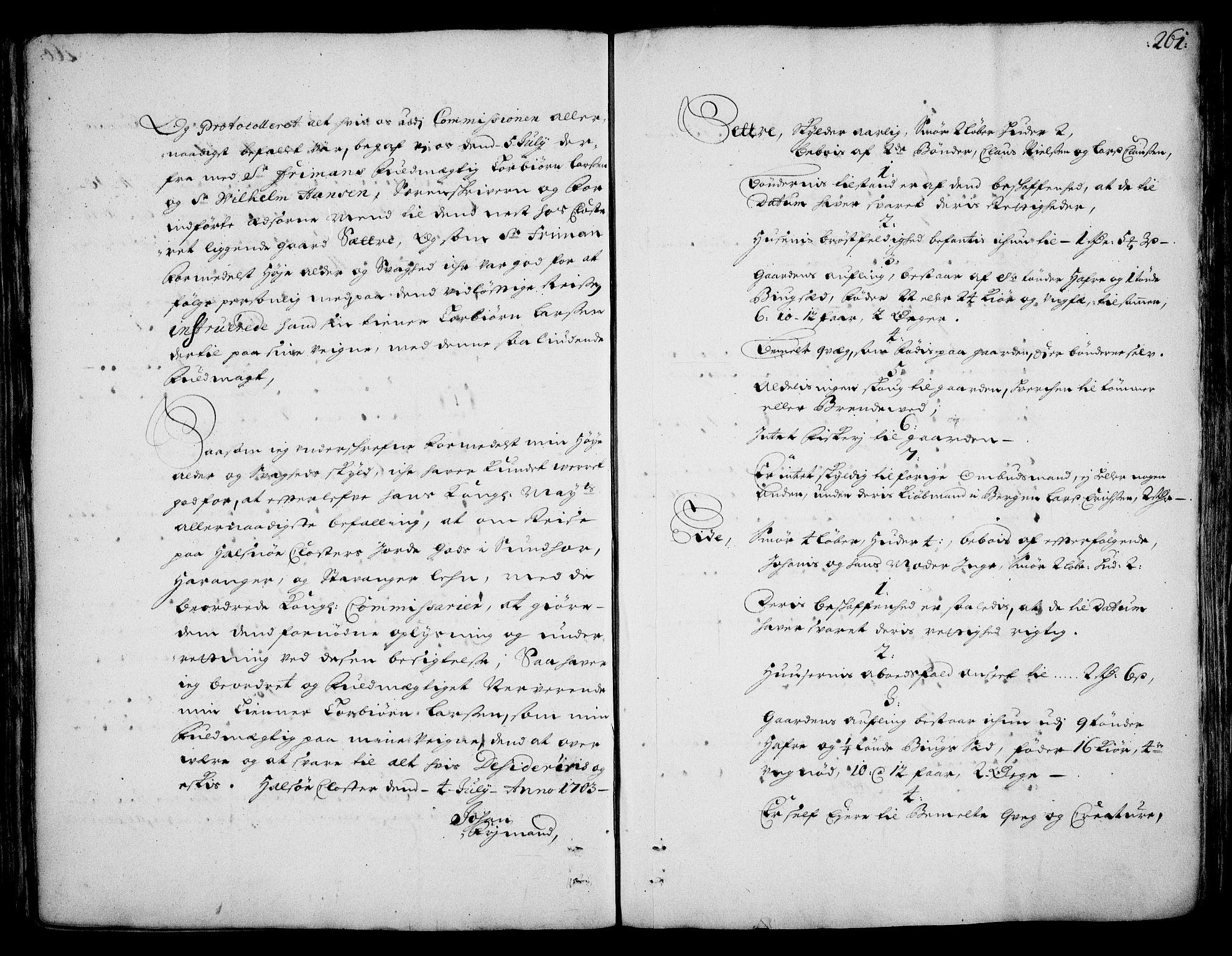 RA, Rentekammeret inntil 1814, Realistisk ordnet avdeling, On/L0002: [Jj 3]: Besiktigelsesforretninger over Halsnøy klosters gods, 1659-1703, s. 260b-261a