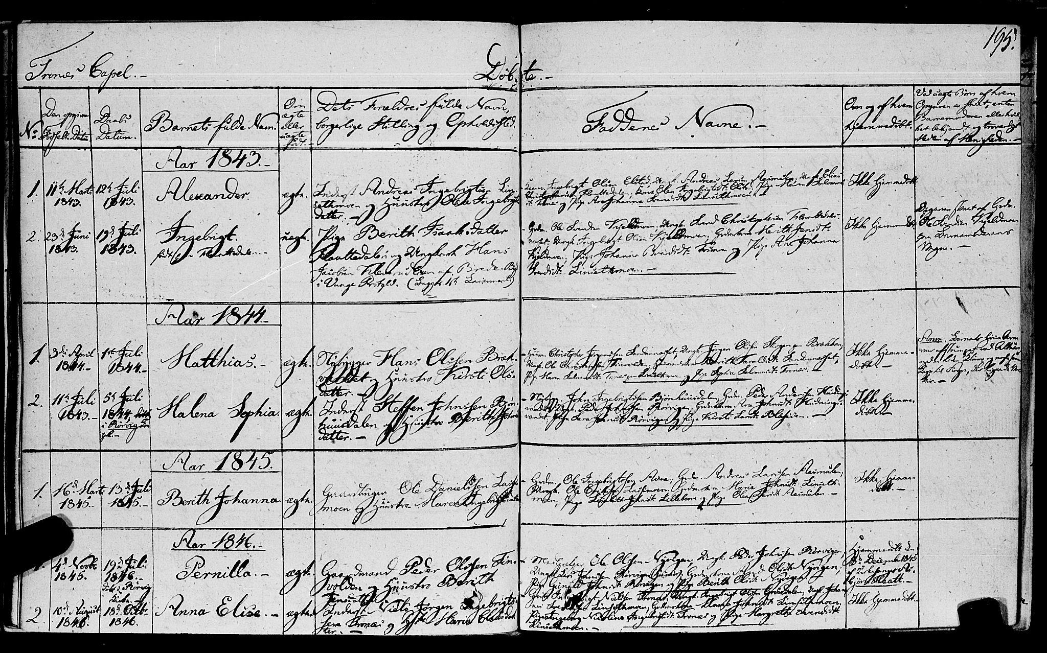 SAT, Ministerialprotokoller, klokkerbøker og fødselsregistre - Nord-Trøndelag, 762/L0538: Ministerialbok nr. 762A02 /2, 1833-1879, s. 195
