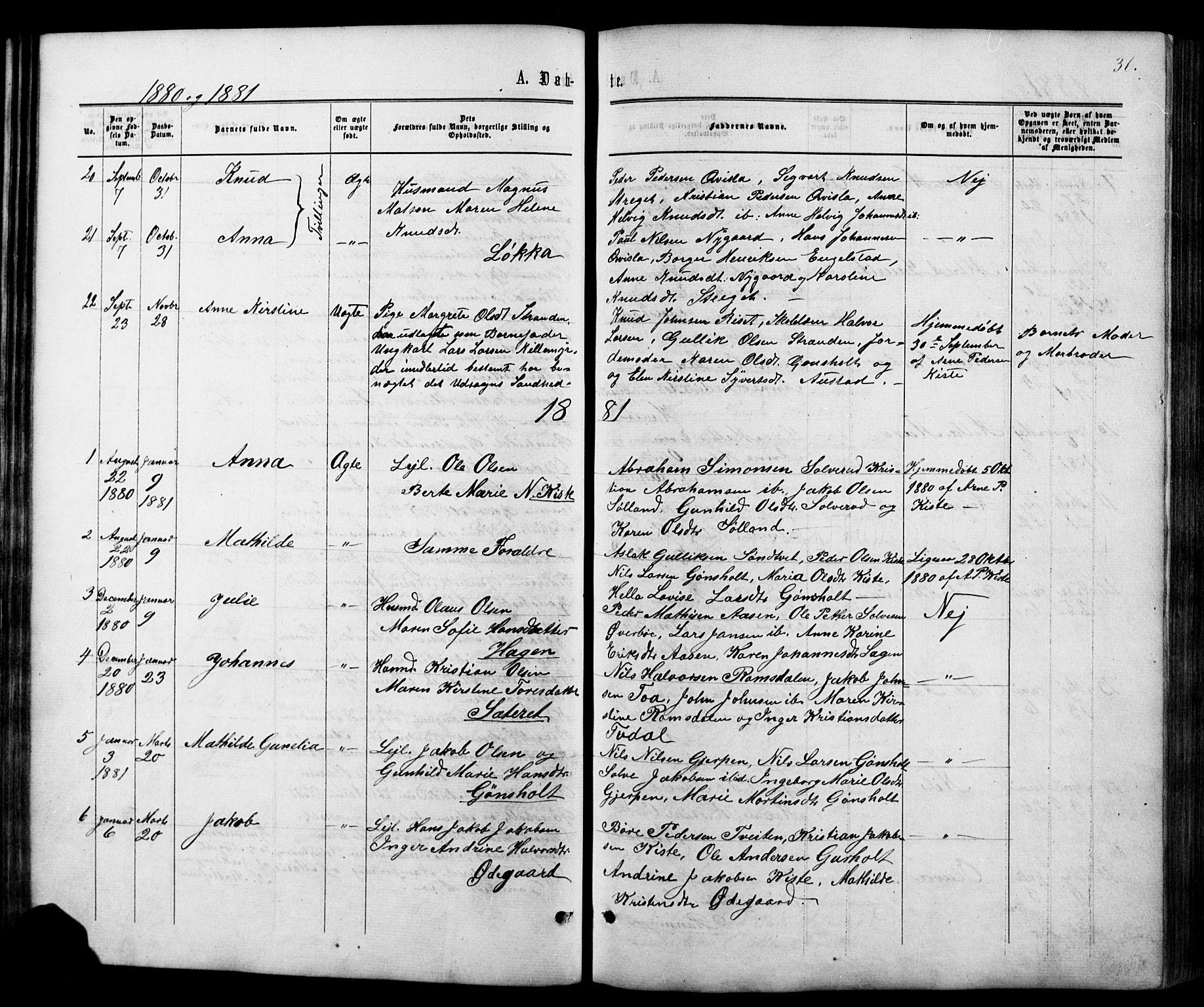 SAKO, Siljan kirkebøker, G/Ga/L0002: Klokkerbok nr. 2, 1864-1908, s. 36