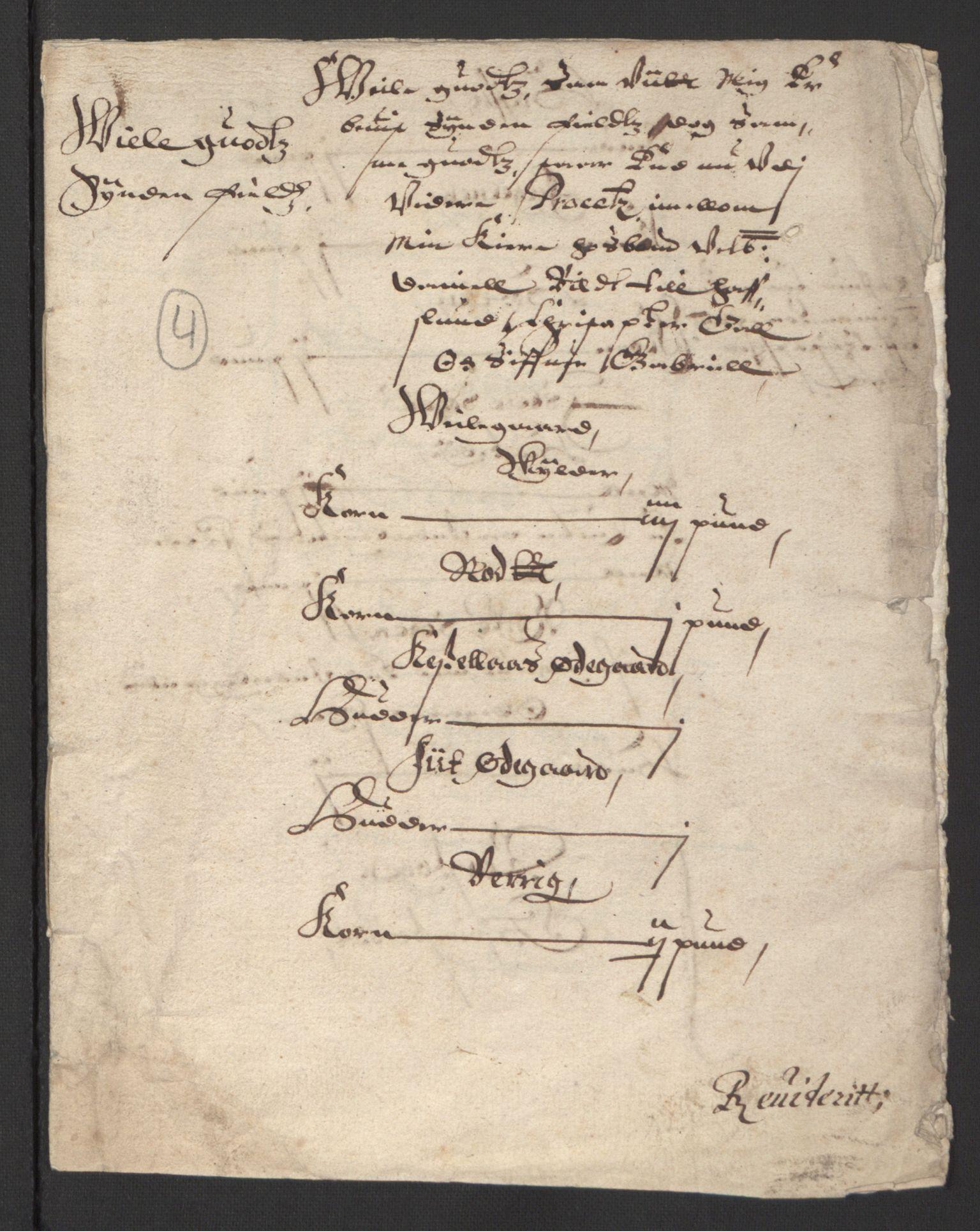 RA, Stattholderembetet 1572-1771, Ek/L0007: Jordebøker til utlikning av rosstjeneste 1624-1626:, 1624-1625, s. 438