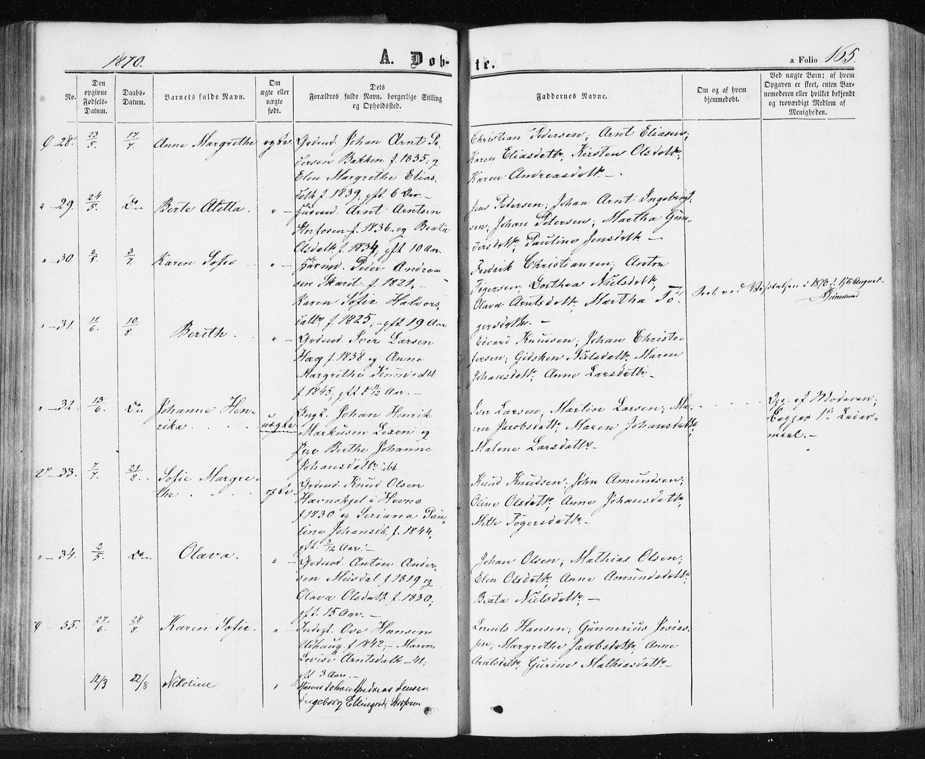 SAT, Ministerialprotokoller, klokkerbøker og fødselsregistre - Sør-Trøndelag, 659/L0737: Ministerialbok nr. 659A07, 1857-1875, s. 165