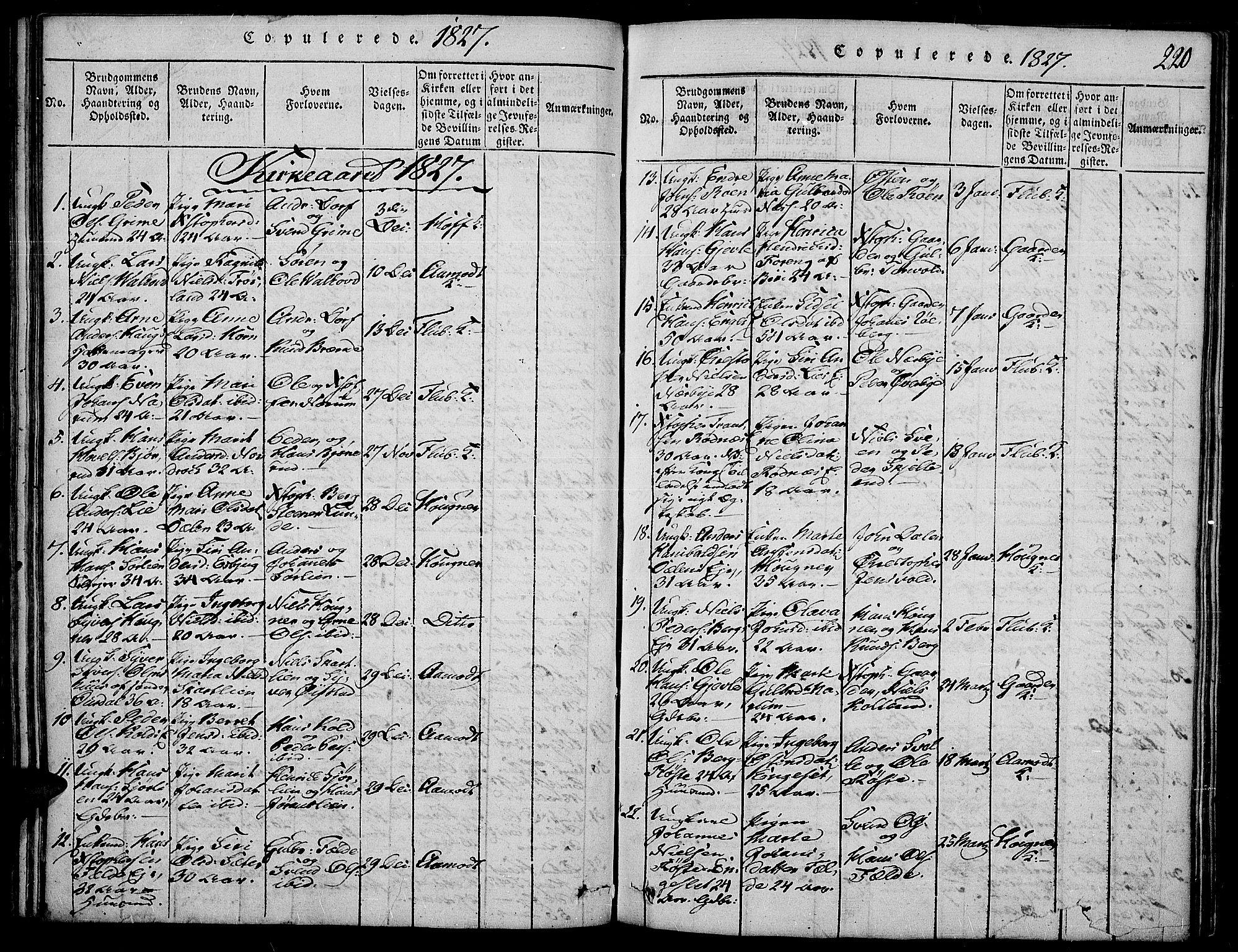 SAH, Land prestekontor, Ministerialbok nr. 7, 1814-1830, s. 220