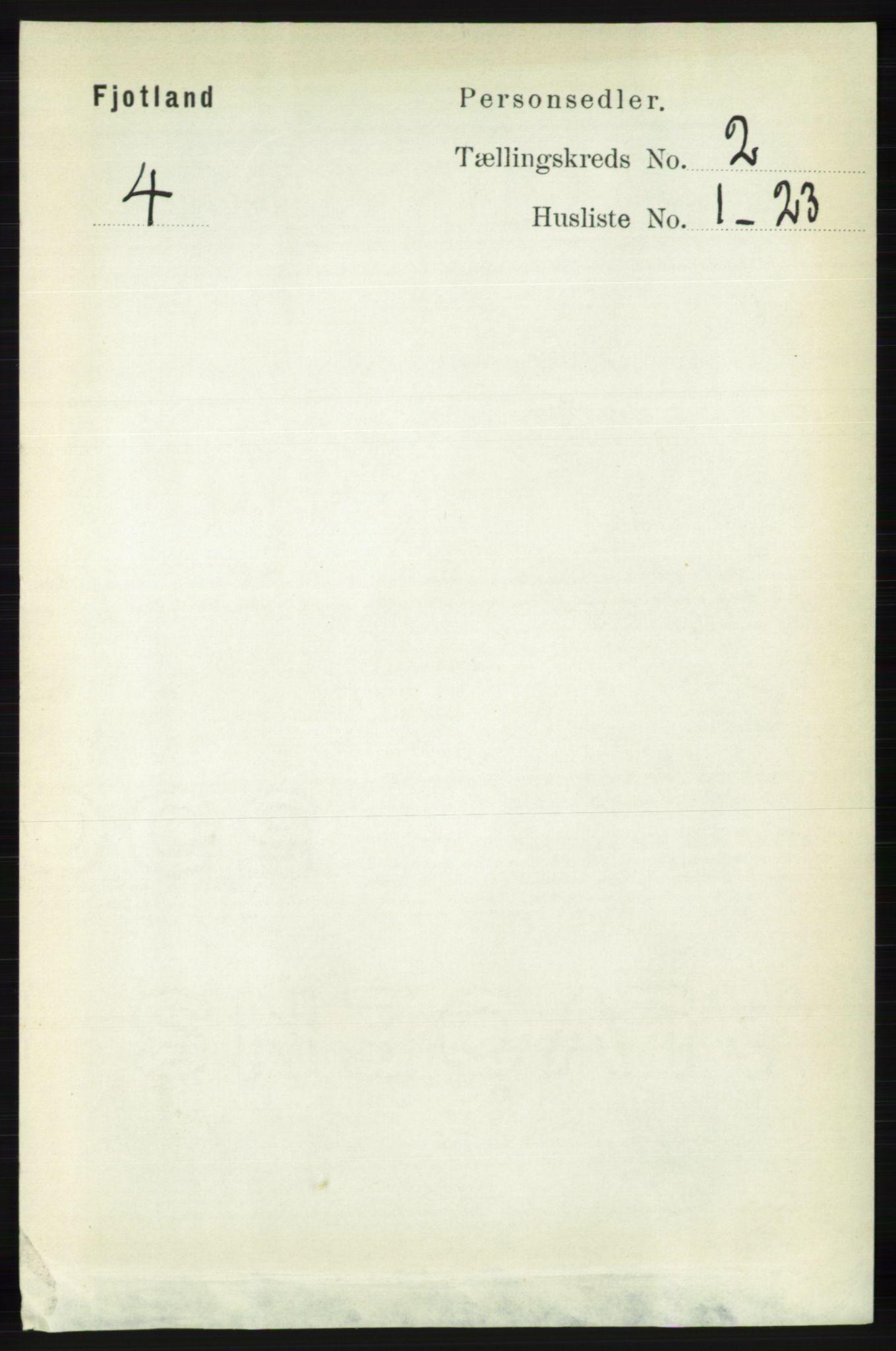 RA, Folketelling 1891 for 1036 Fjotland herred, 1891, s. 235