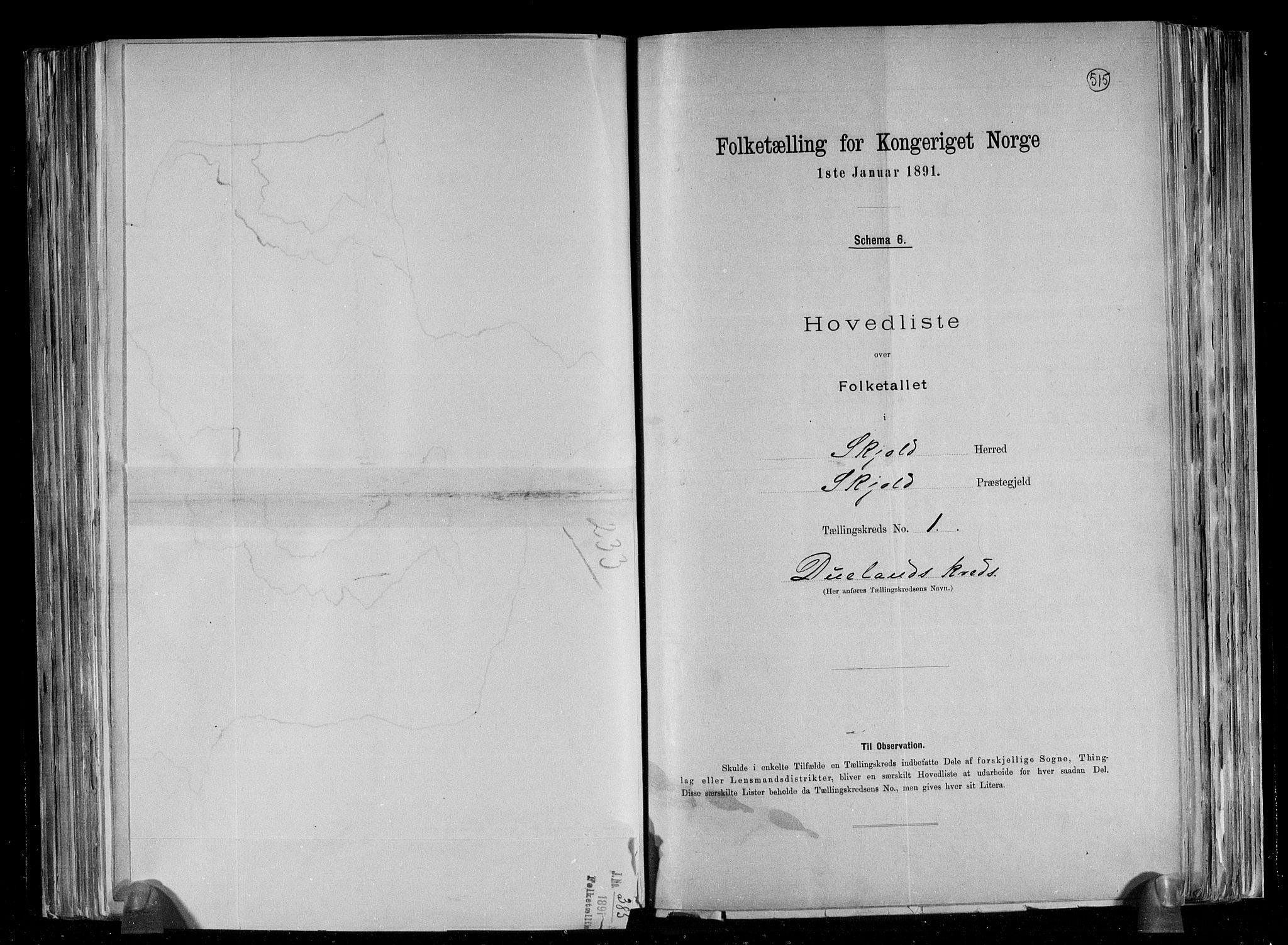 RA, Folketelling 1891 for 1154 Skjold herred, 1891, s. 5