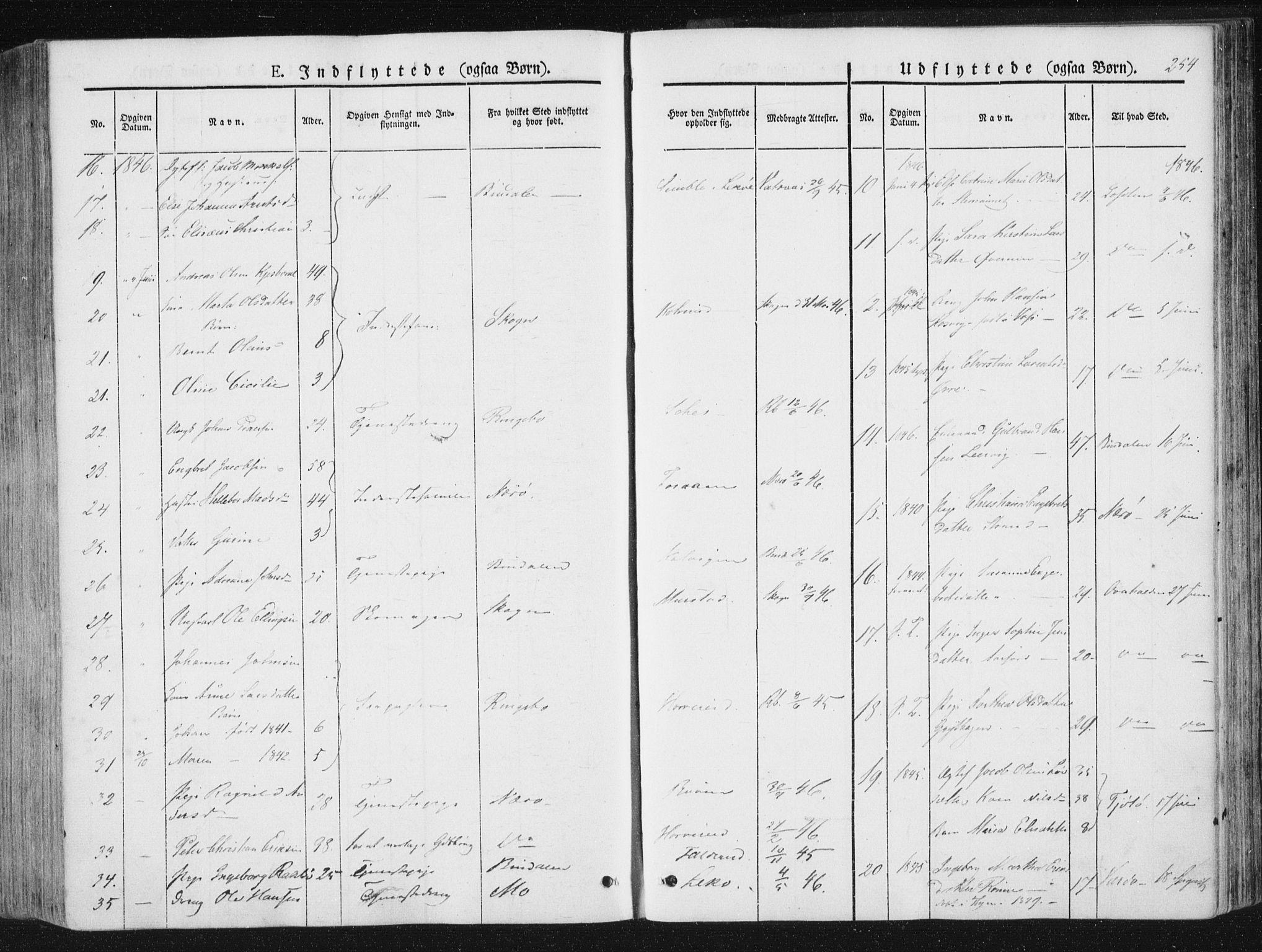 SAT, Ministerialprotokoller, klokkerbøker og fødselsregistre - Nord-Trøndelag, 780/L0640: Ministerialbok nr. 780A05, 1845-1856, s. 254