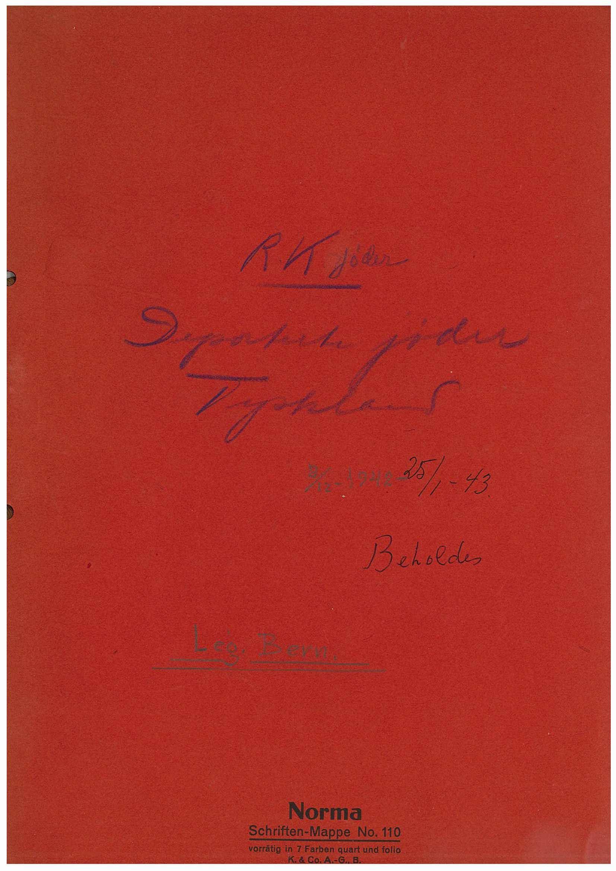 RA, Utenriksstasjonene, Legasjonen i Bern, Sveits, D/Da/L0062, 1942-1943, s. 1