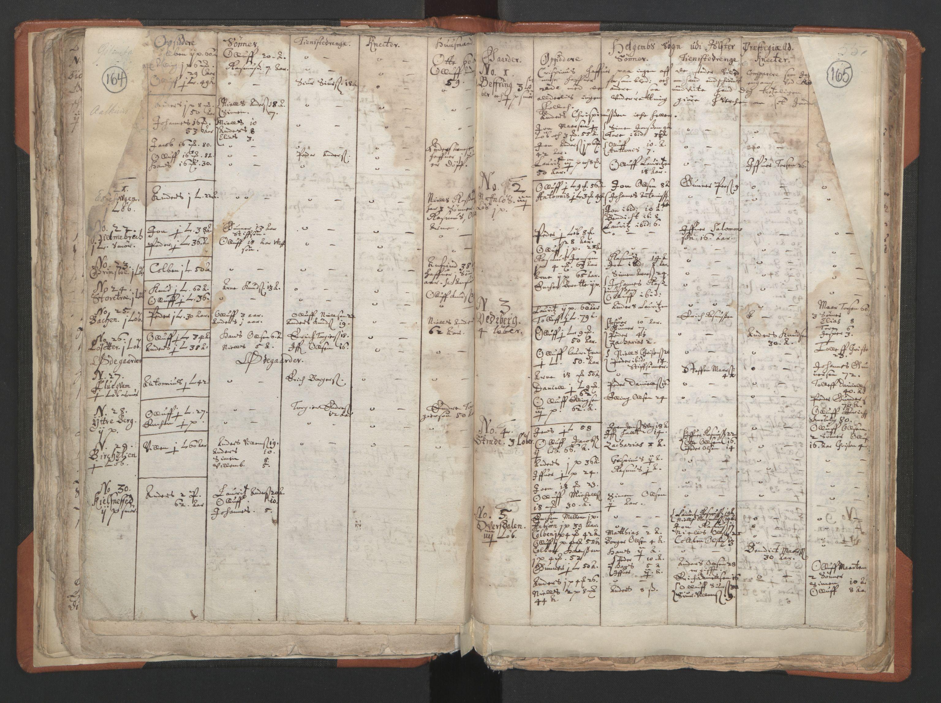 RA, Sogneprestenes manntall 1664-1666, nr. 24: Sunnfjord prosti, 1664-1666, s. 164-165