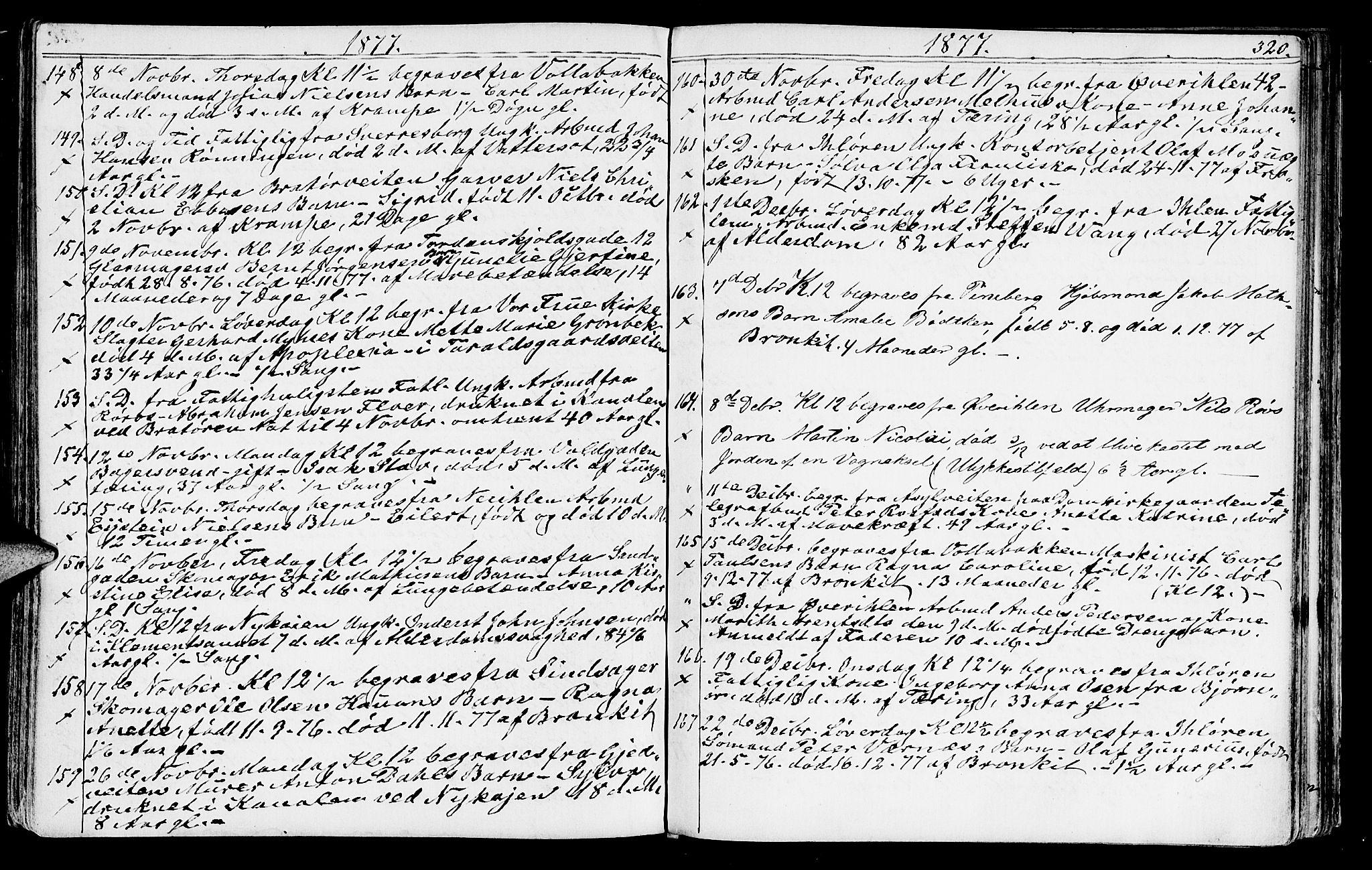 SAT, Ministerialprotokoller, klokkerbøker og fødselsregistre - Sør-Trøndelag, 602/L0142: Klokkerbok nr. 602C10, 1872-1894, s. 320