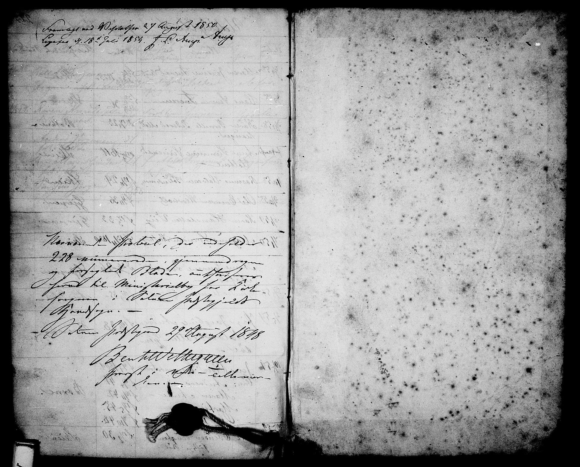 SAKO, Solum kirkebøker, G/Ga/L0003: Klokkerbok nr. I 3, 1848-1859