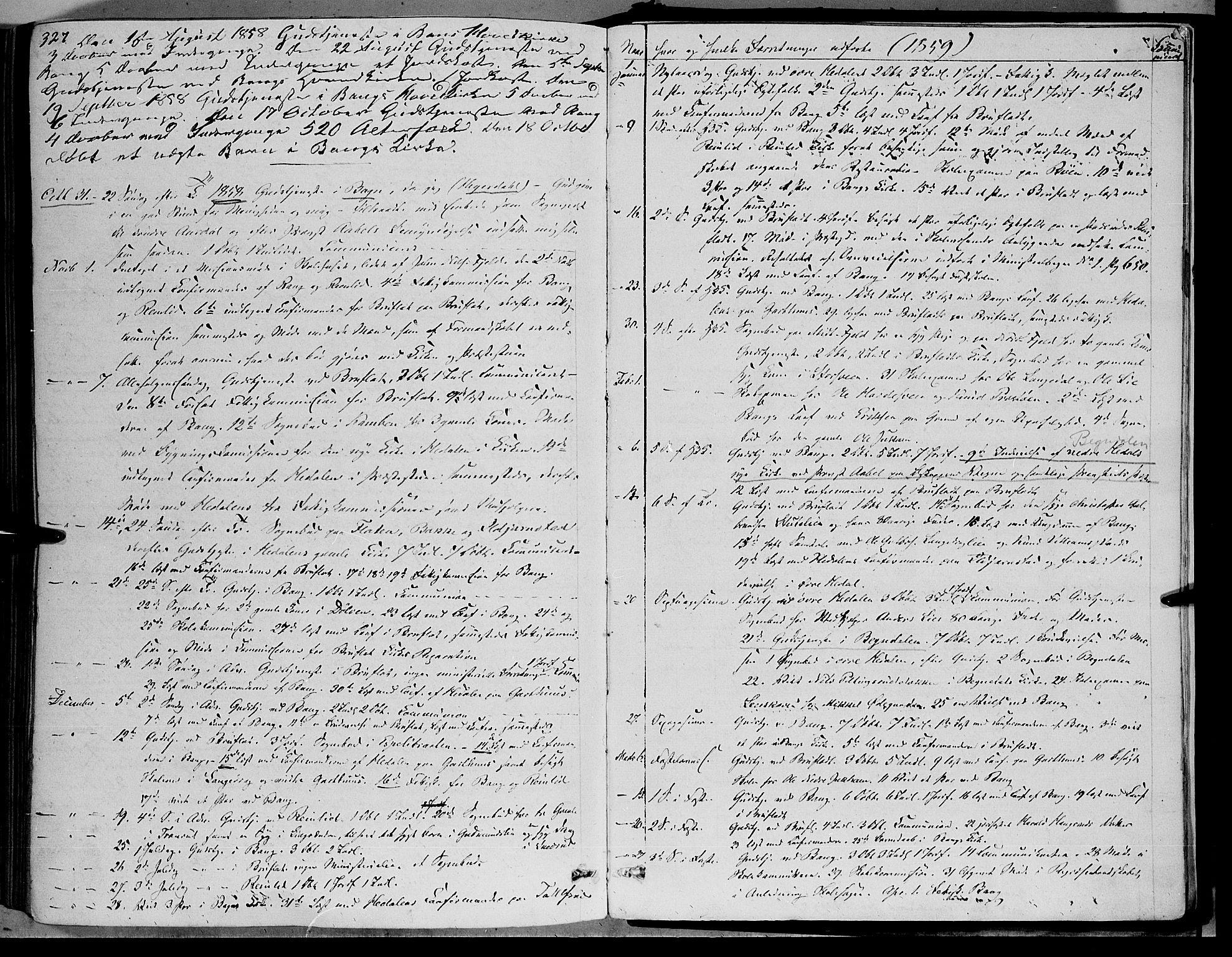 SAH, Sør-Aurdal prestekontor, Ministerialbok nr. 5, 1849-1876, s. 327
