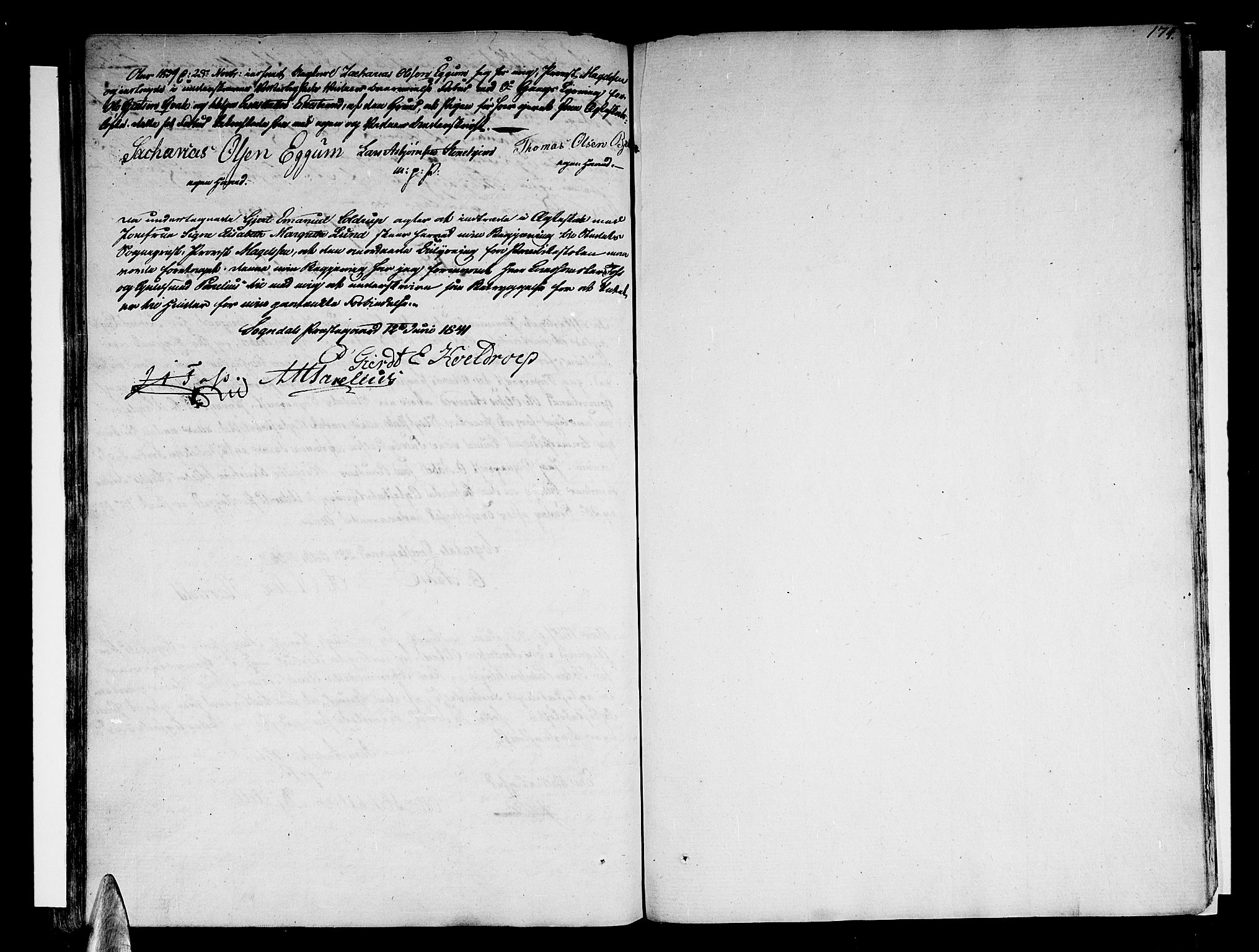 SAB, Sogndal sokneprestembete, H/Haa/Haaa/L0009: Ministerialbok nr. A 9, 1809-1821, s. 174